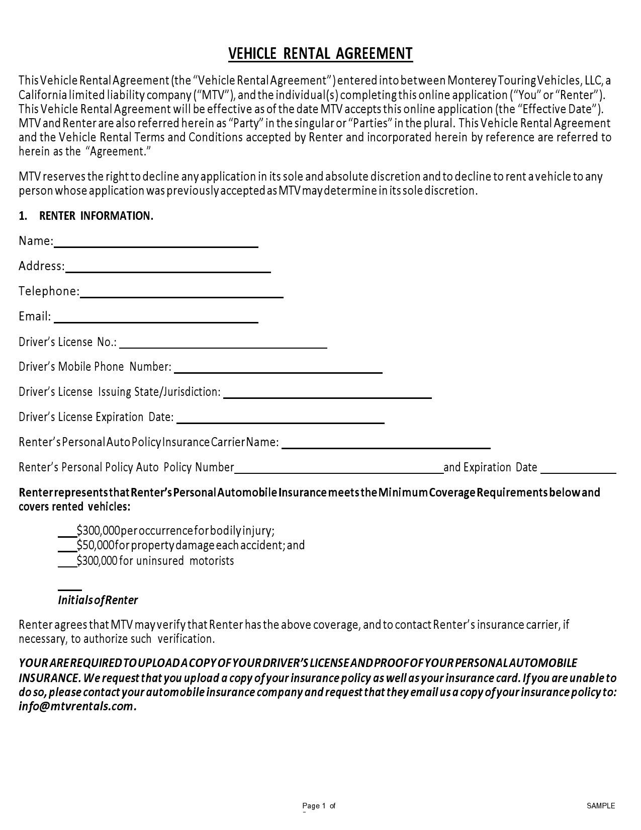 Free car rental agreement 26