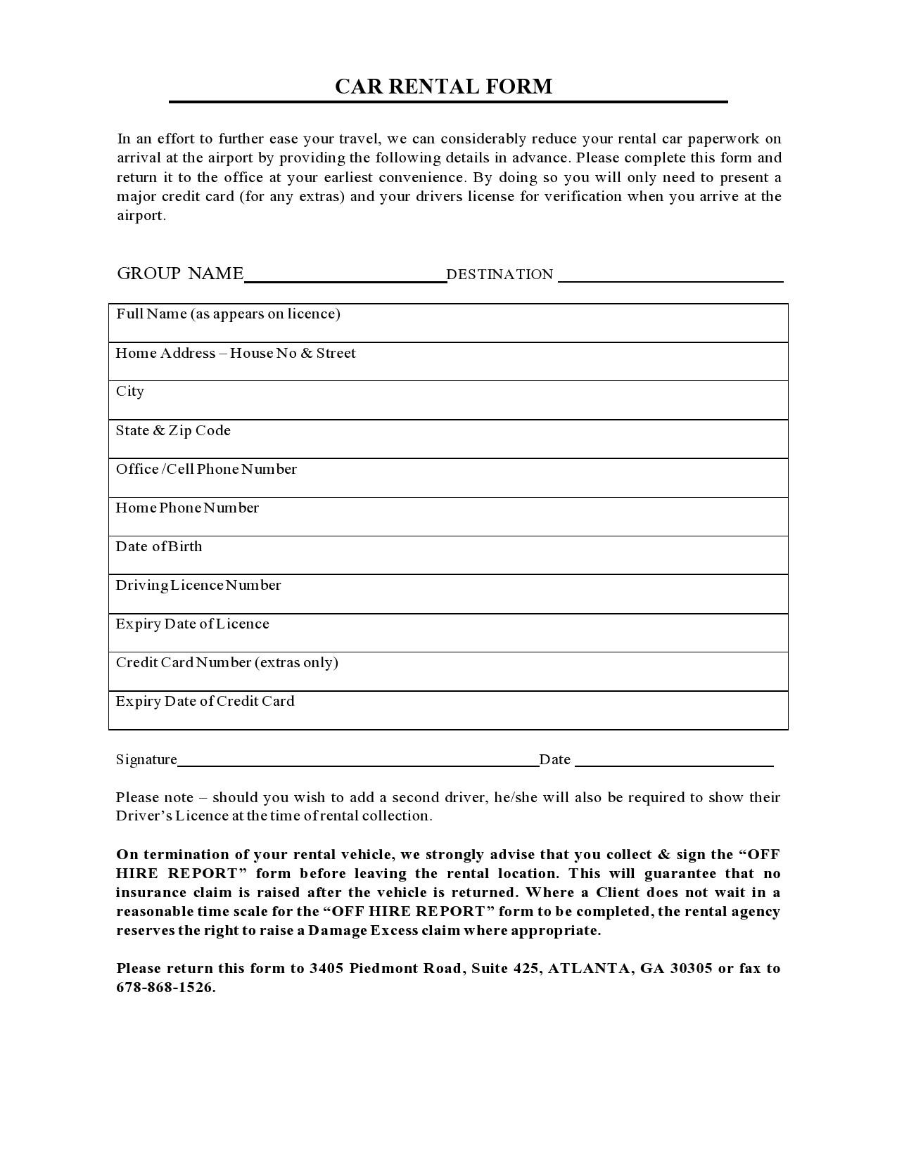 Free car rental agreement 33
