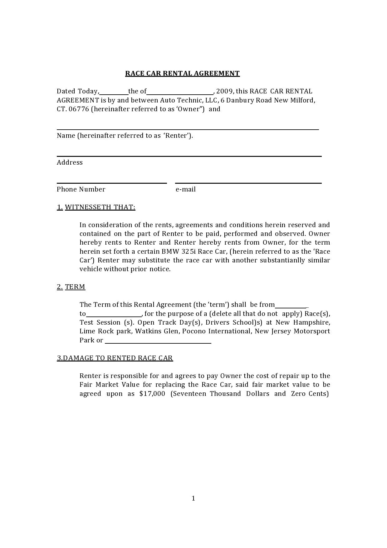 Free car rental agreement 34