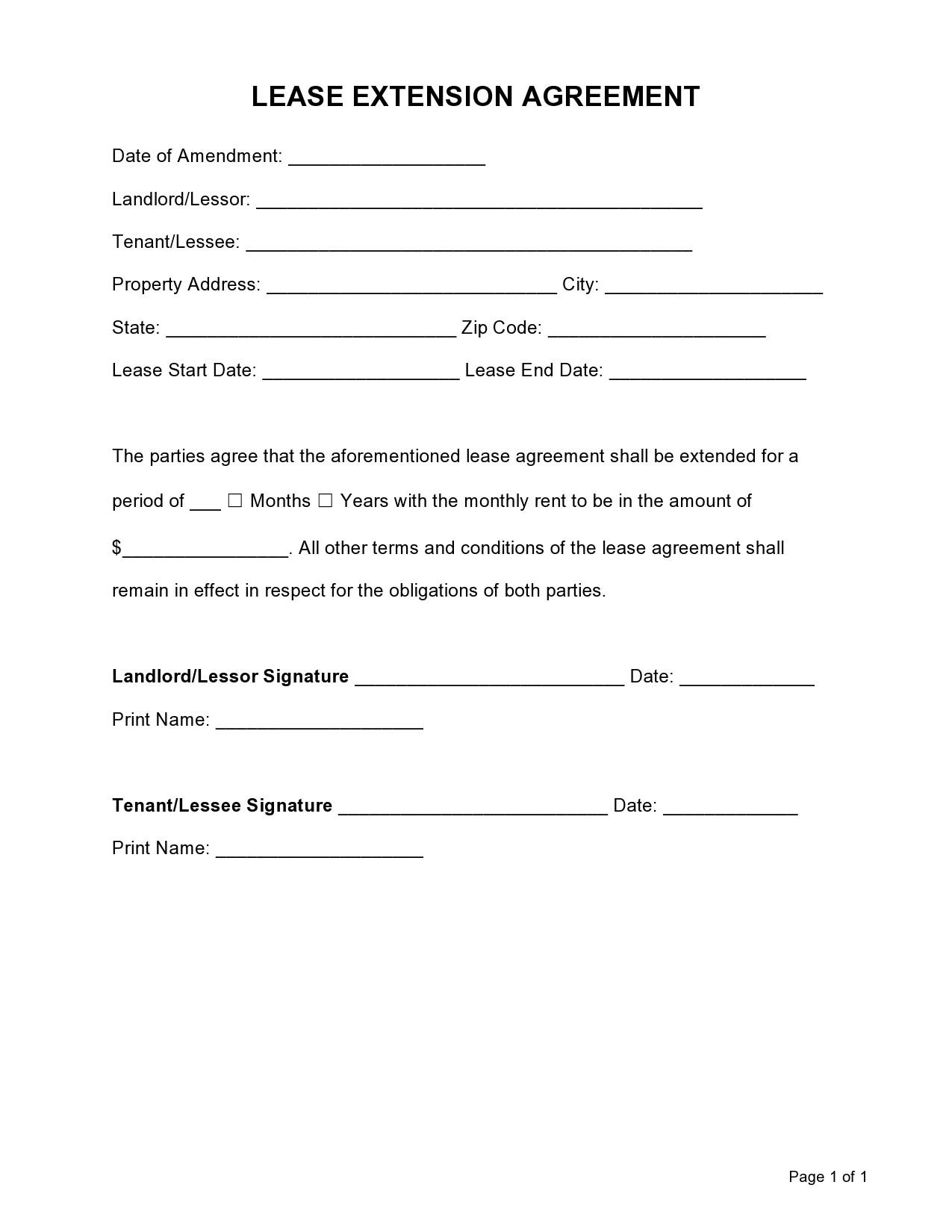 Free lease extension addendum 02