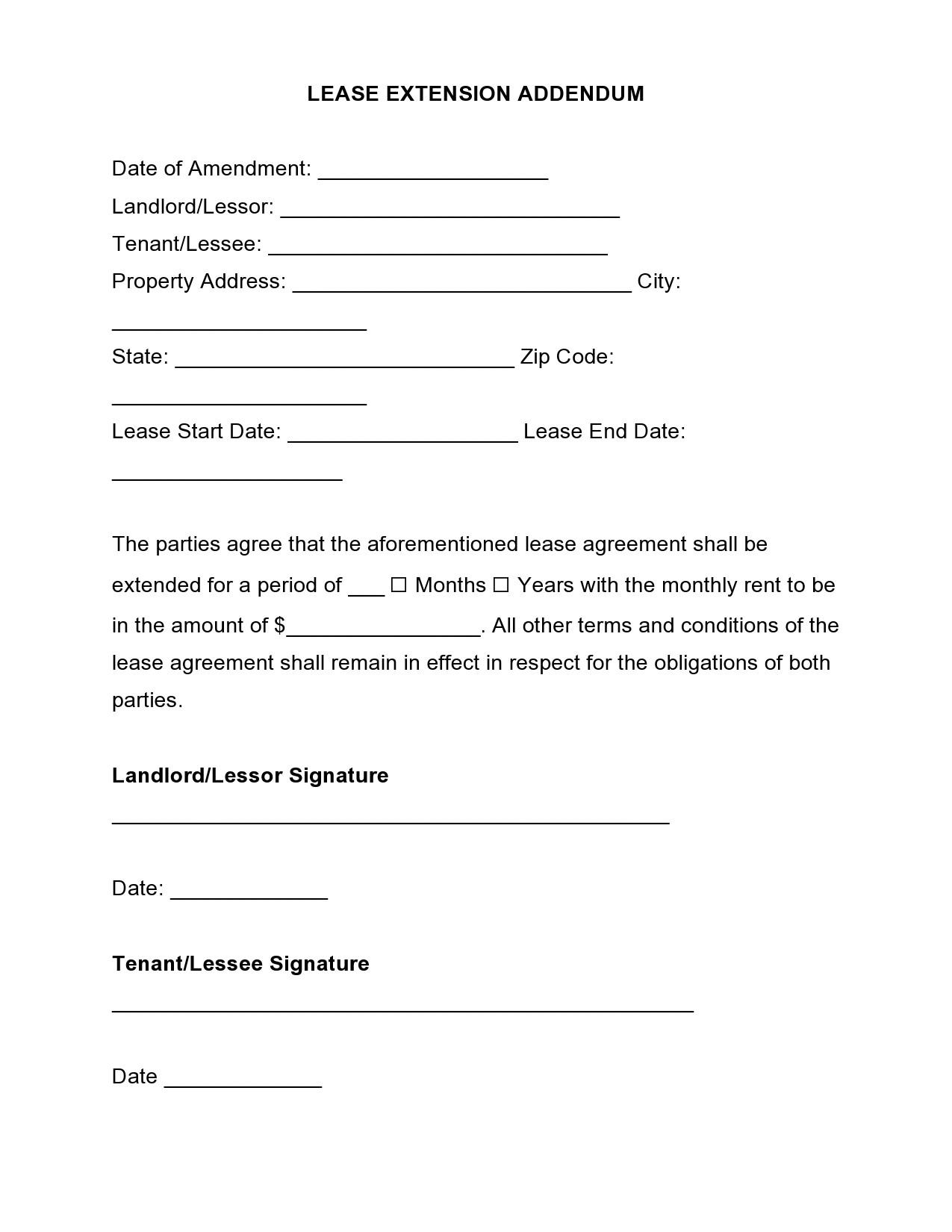 Free lease extension addendum 04
