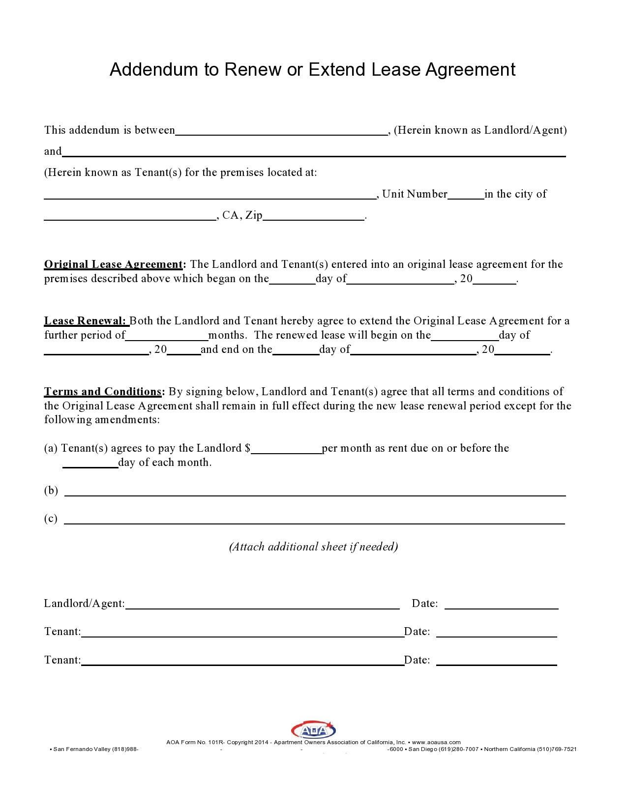 Free lease extension addendum 06