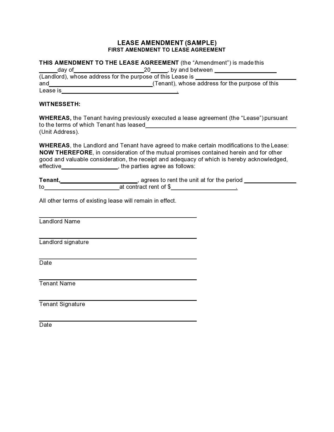 Free lease extension addendum 13