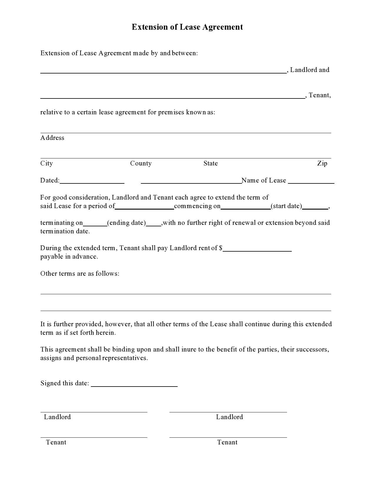 Free lease extension addendum 31