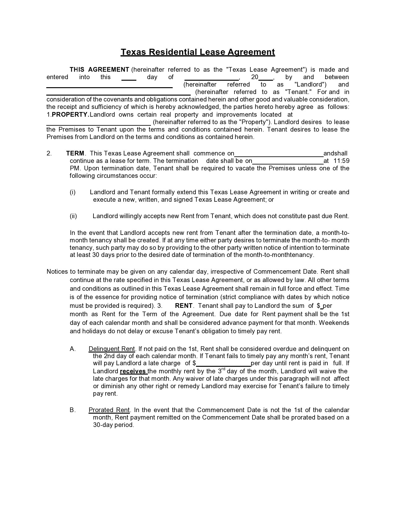 Free lease extension addendum 36
