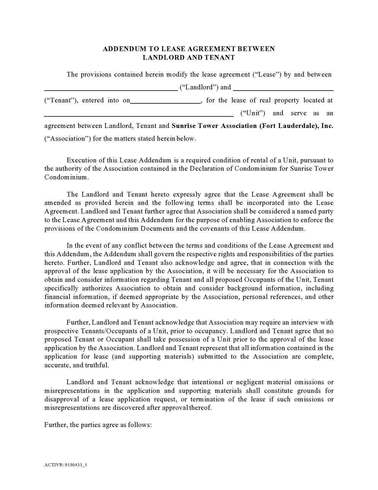 Free lease extension addendum 37