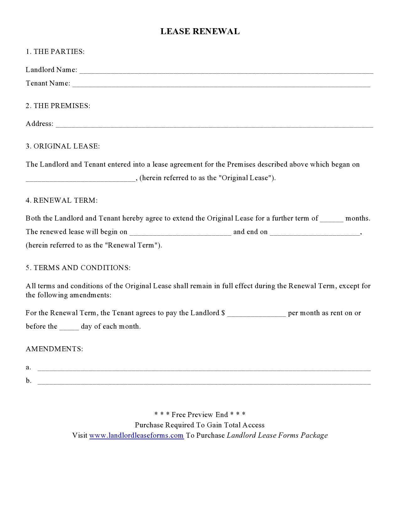 Free lease extension addendum 39