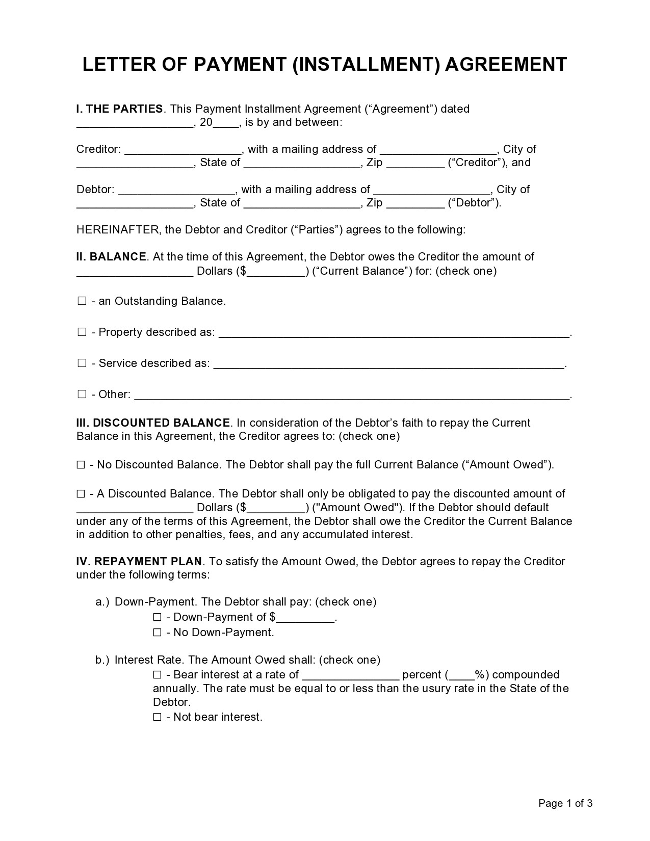 Free letter of agreement 39