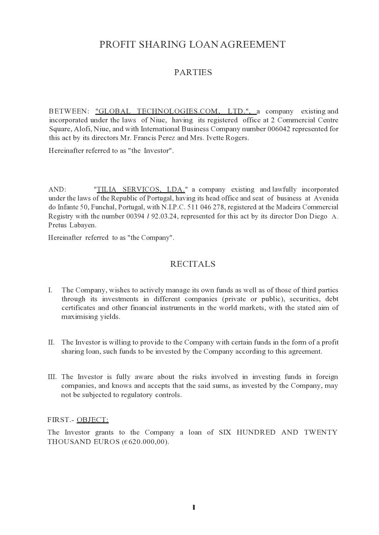 Free profit sharing agreement 04