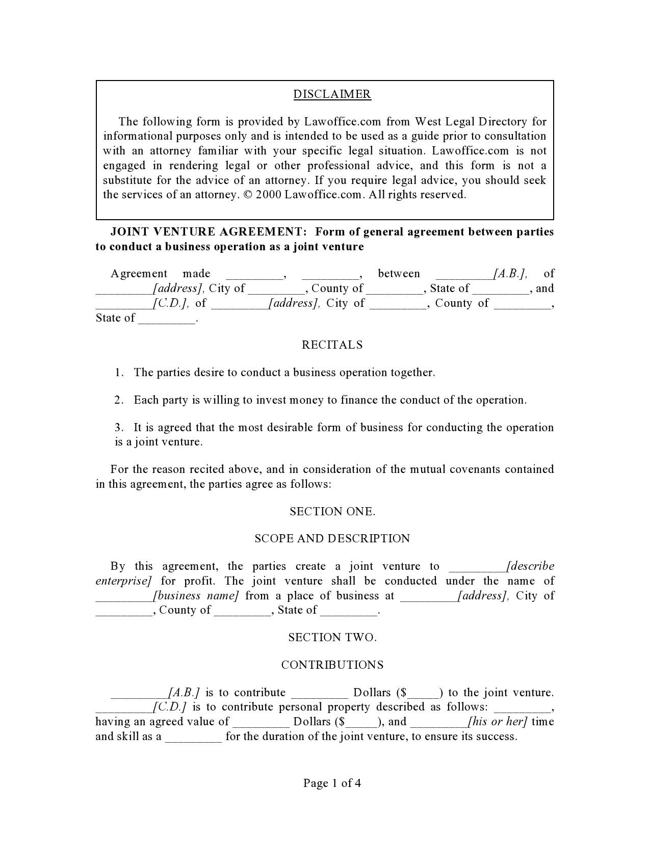 Free profit sharing agreement 32