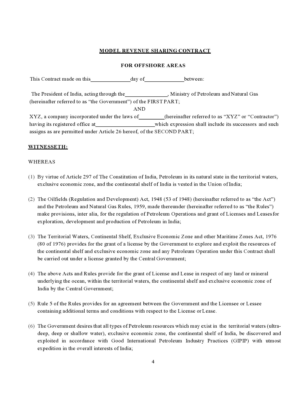 Free profit sharing agreement 35