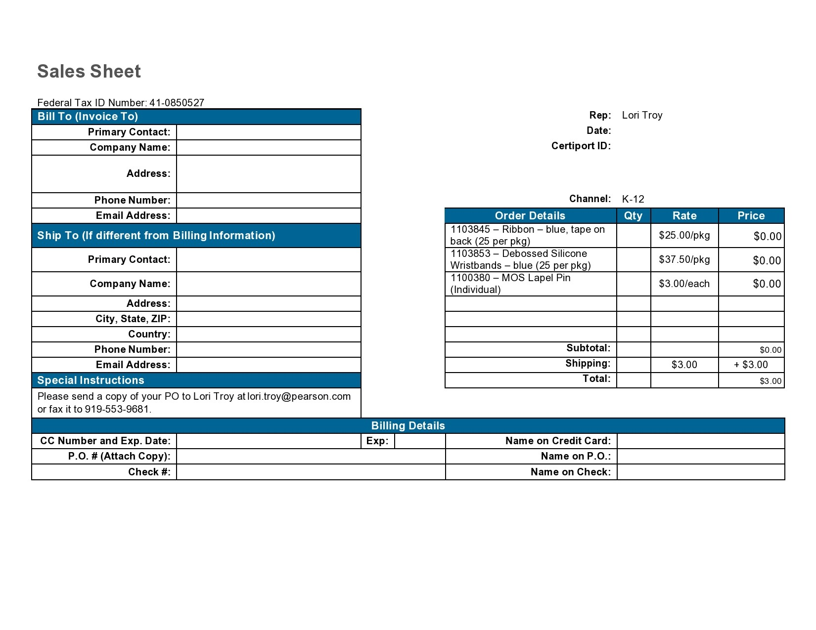 Free sell sheet template 17