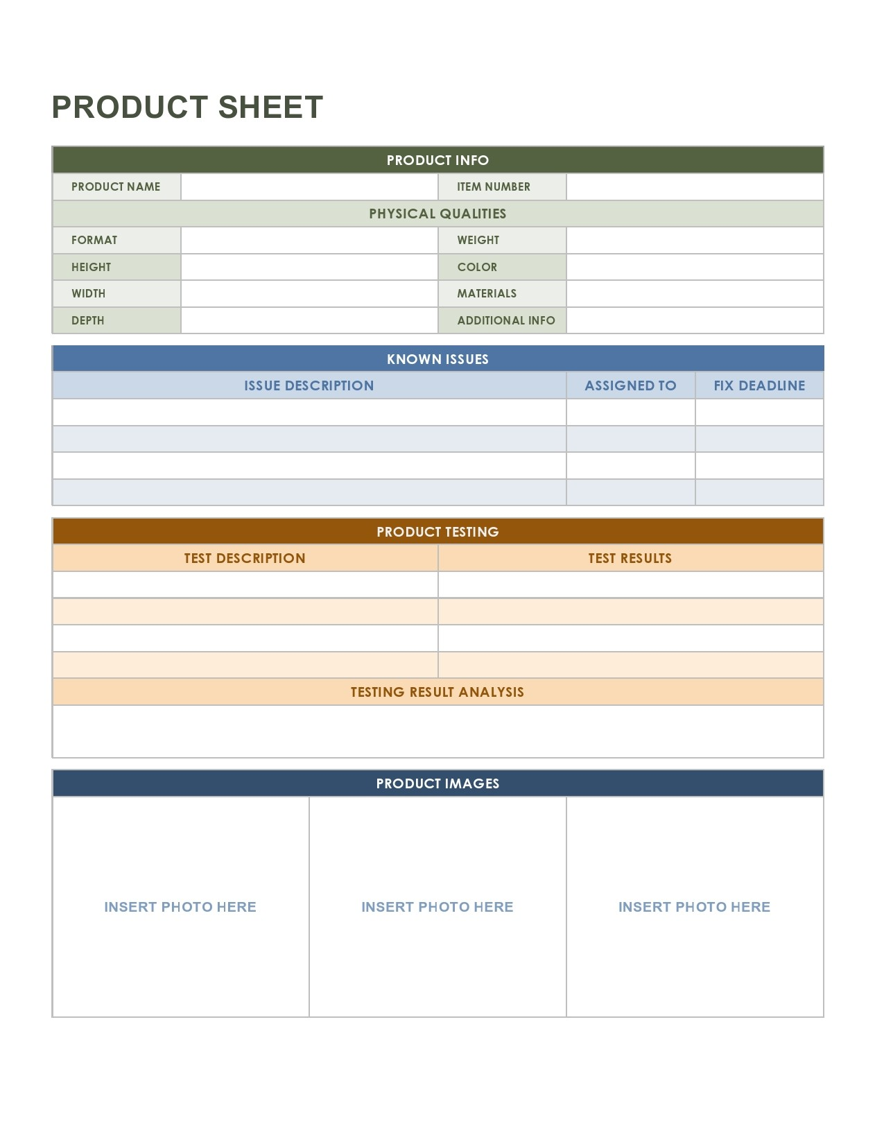 Free sell sheet template 20