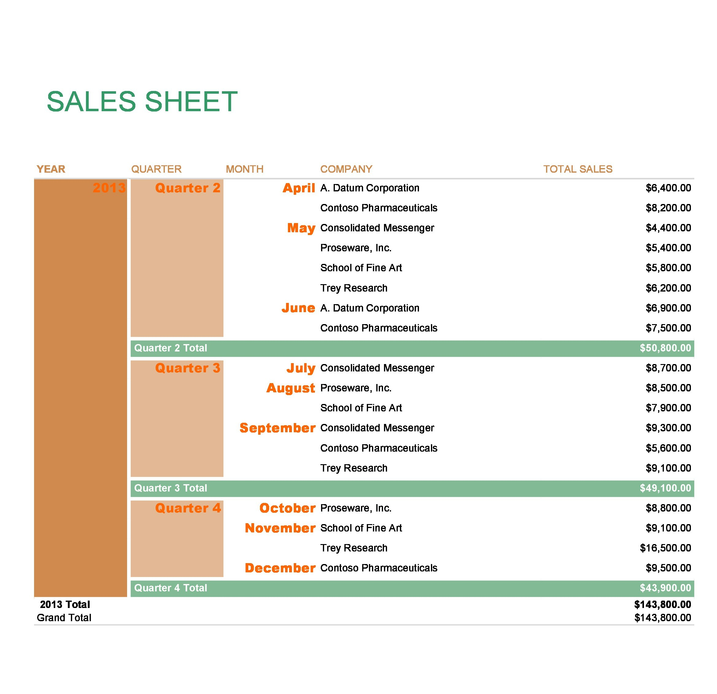 Free sell sheet template 32