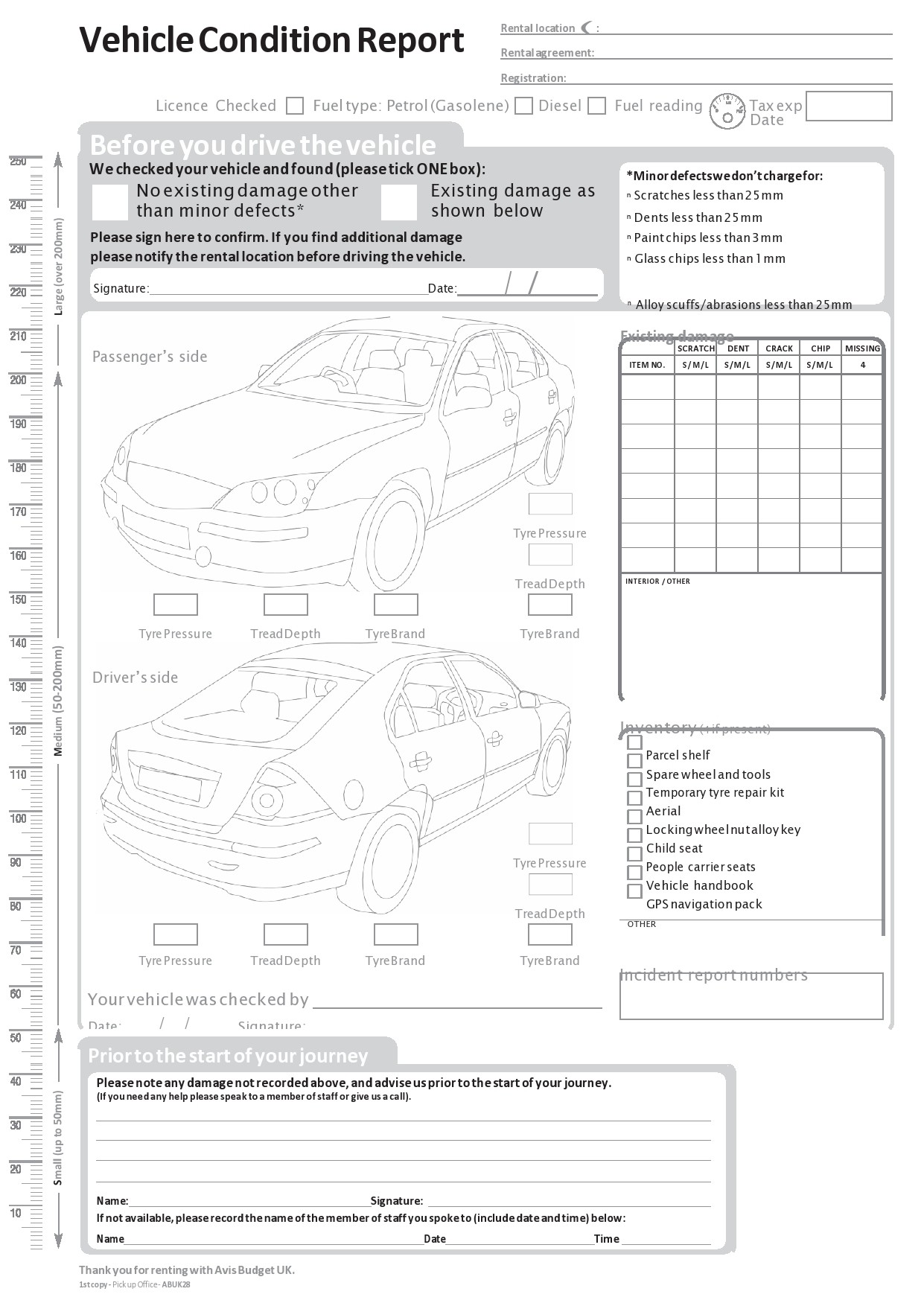 Free vehicle inspection form 27