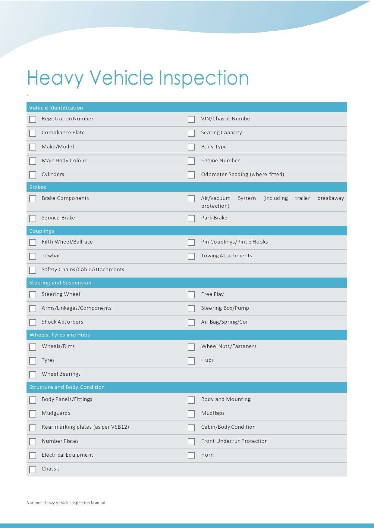 Free vehicle inspection form 31