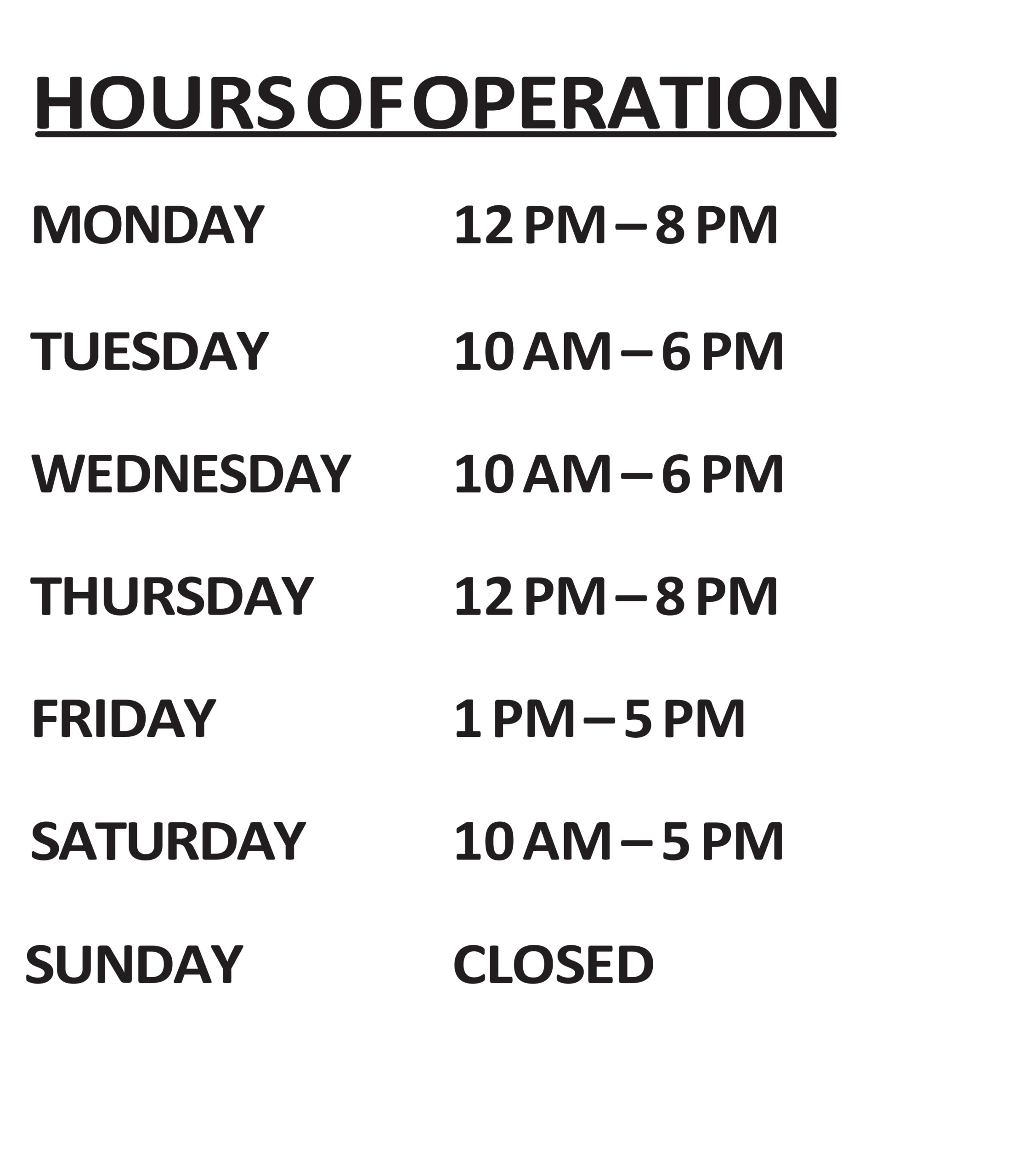 Free business hours template 18