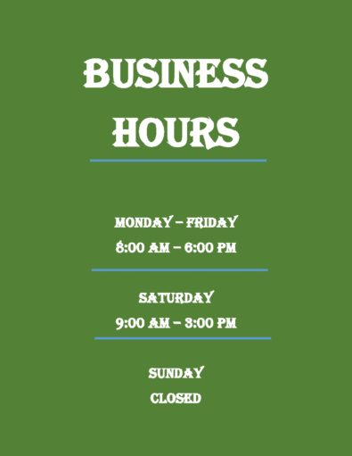 Business Hours Templates