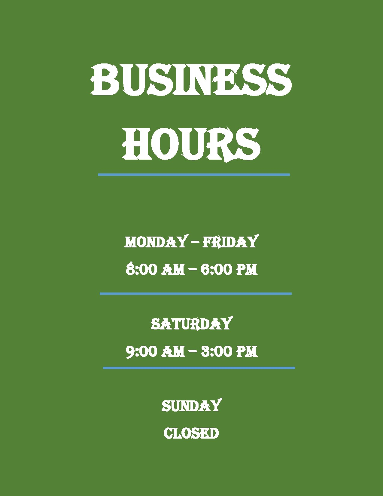 Free business hours template 32