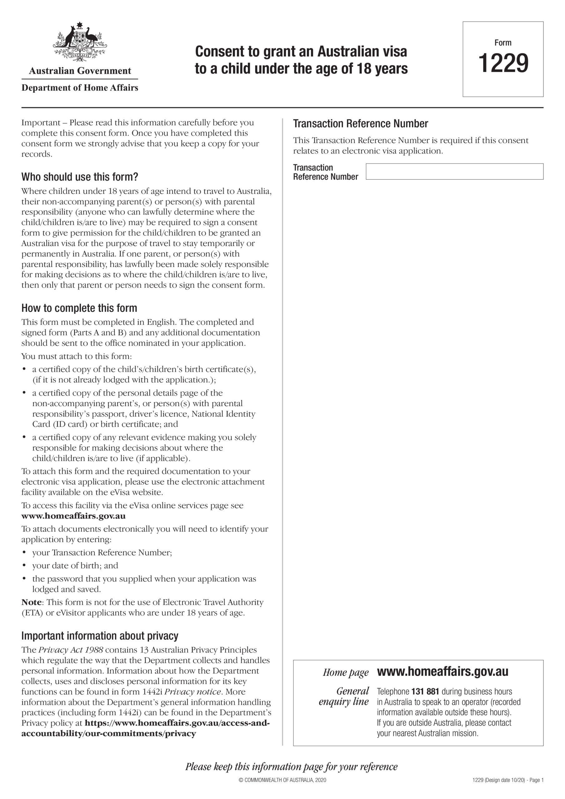 Free child travel consent form 24