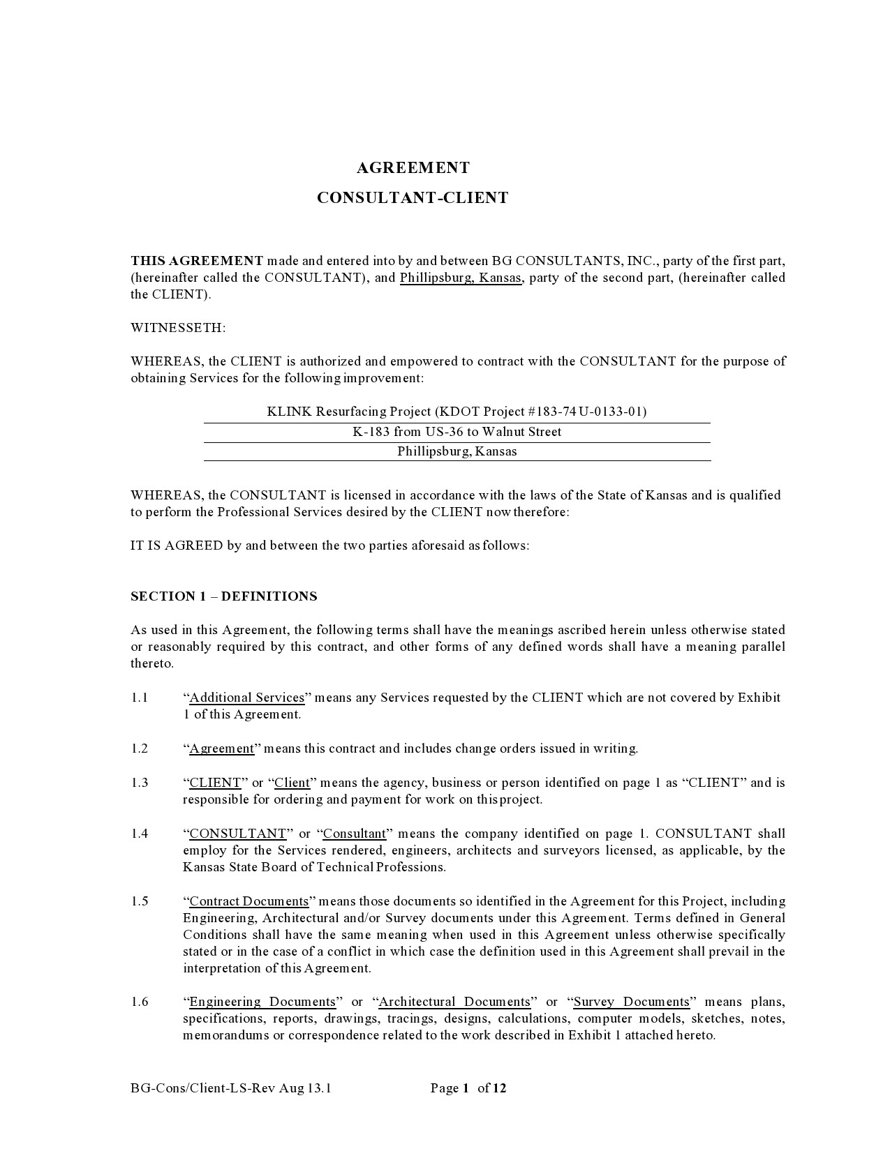Free consulting contract template 02