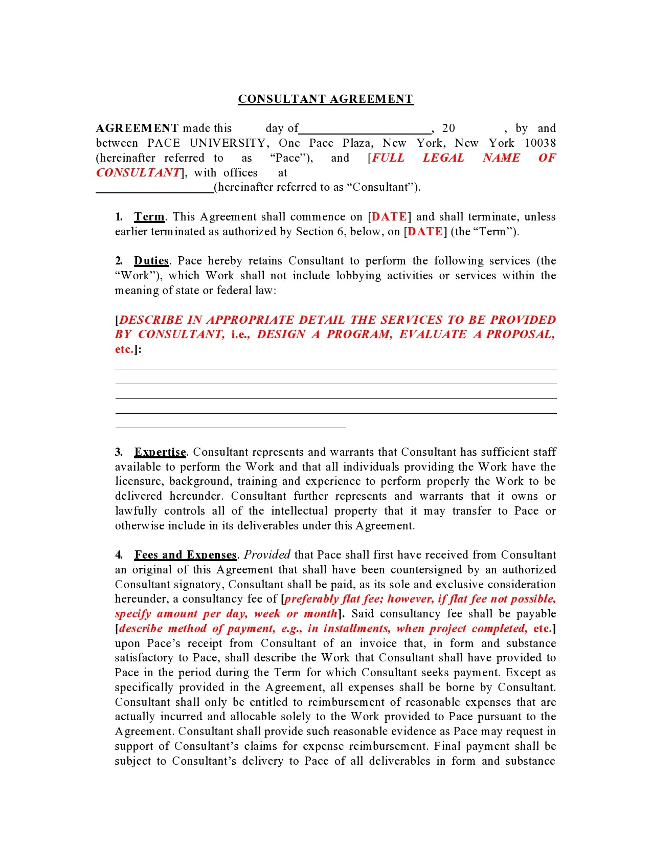 Free consulting contract template 03