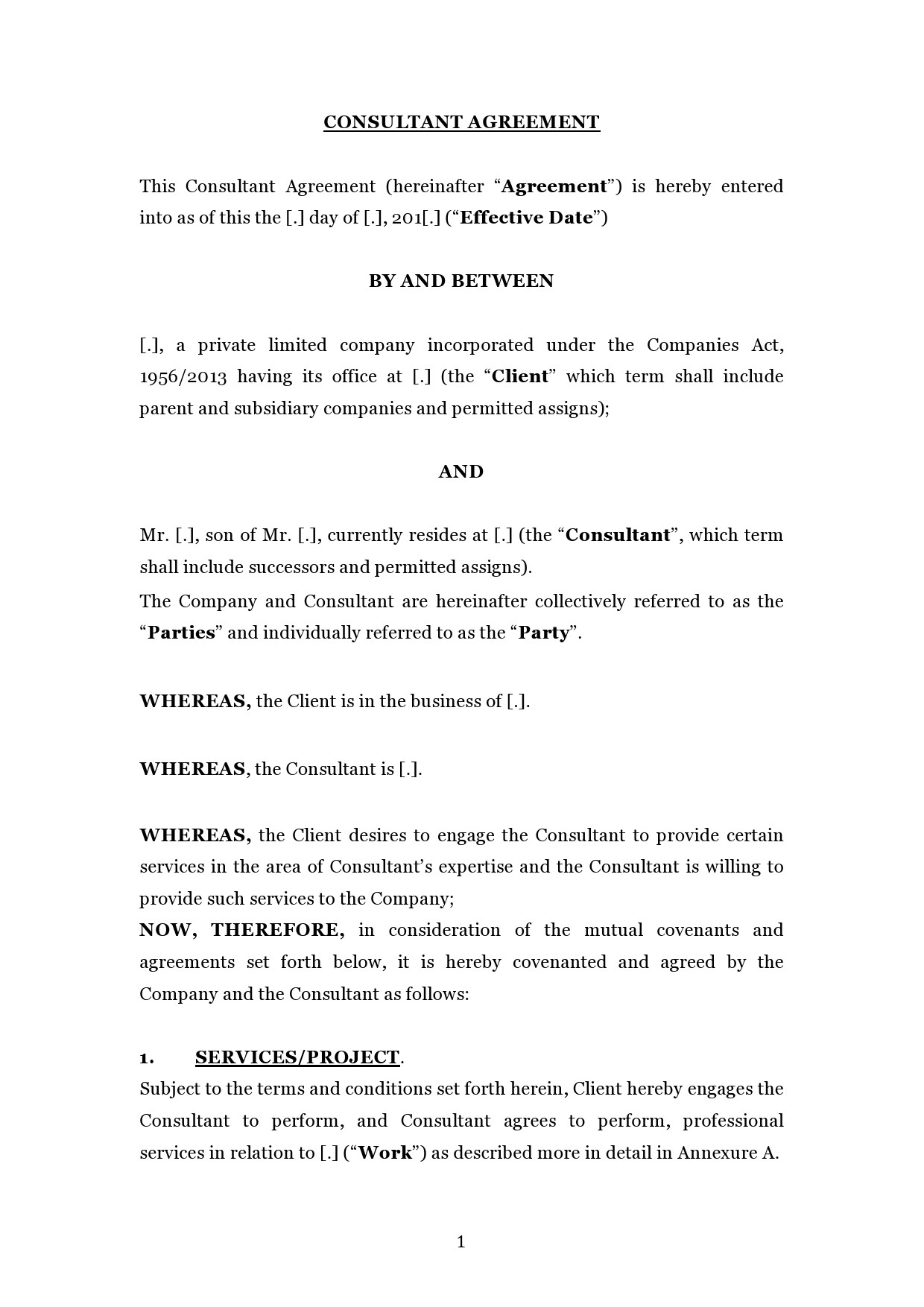 Free consulting contract template 08
