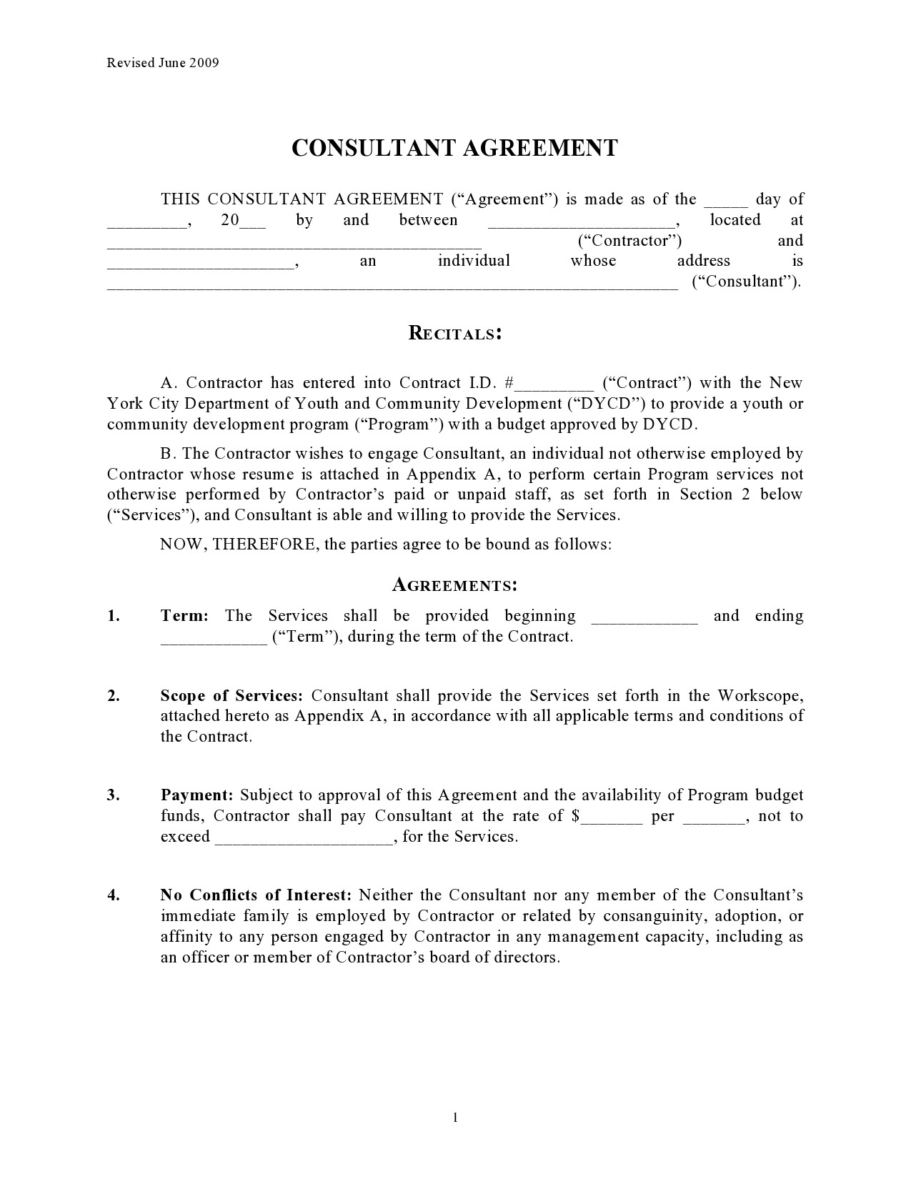 Free consulting contract template 12
