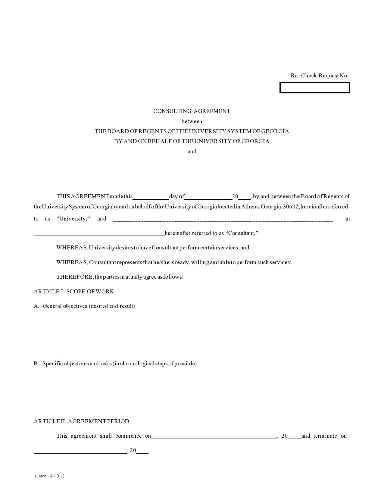 Free consulting contract template 15