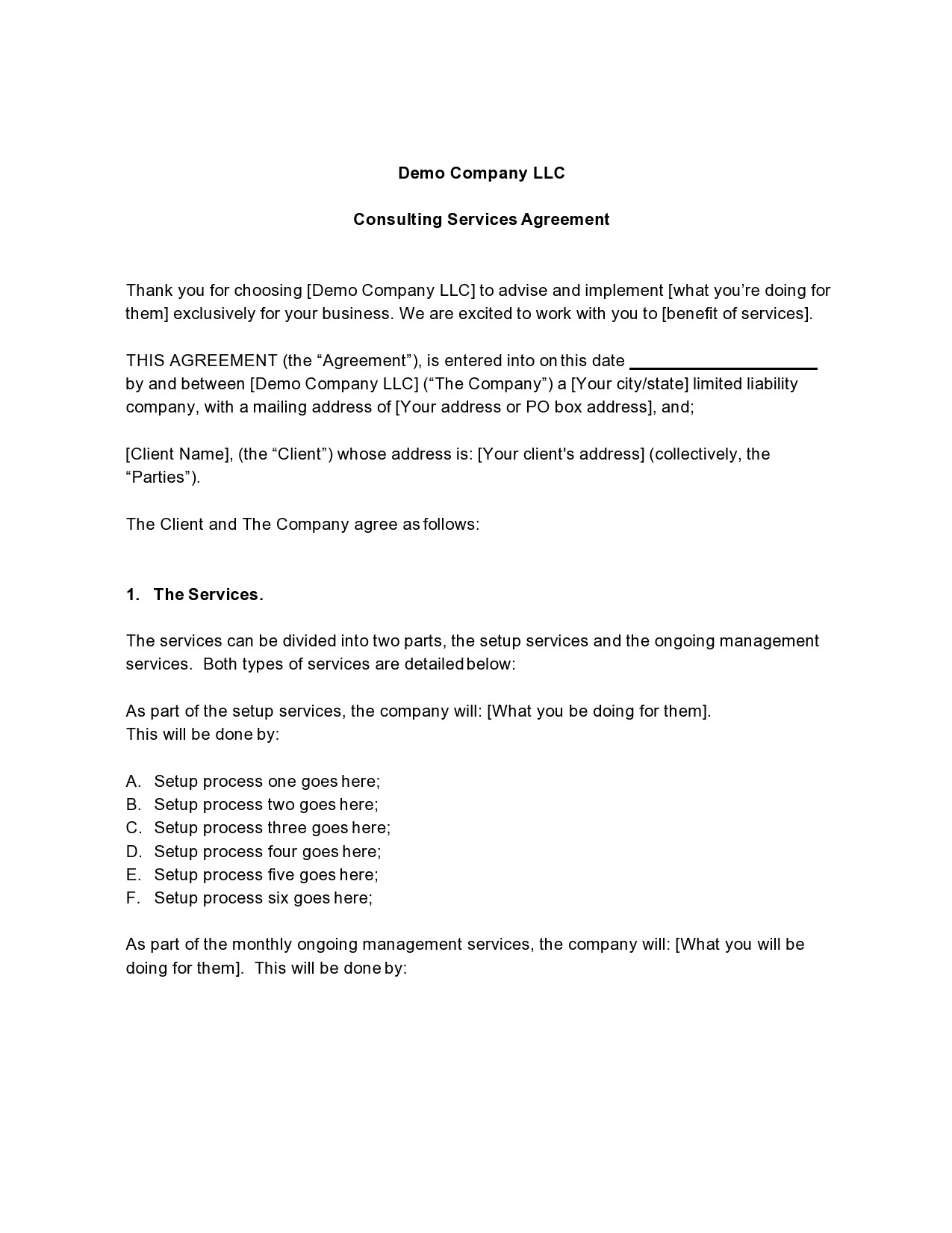 Free consulting contract template 18