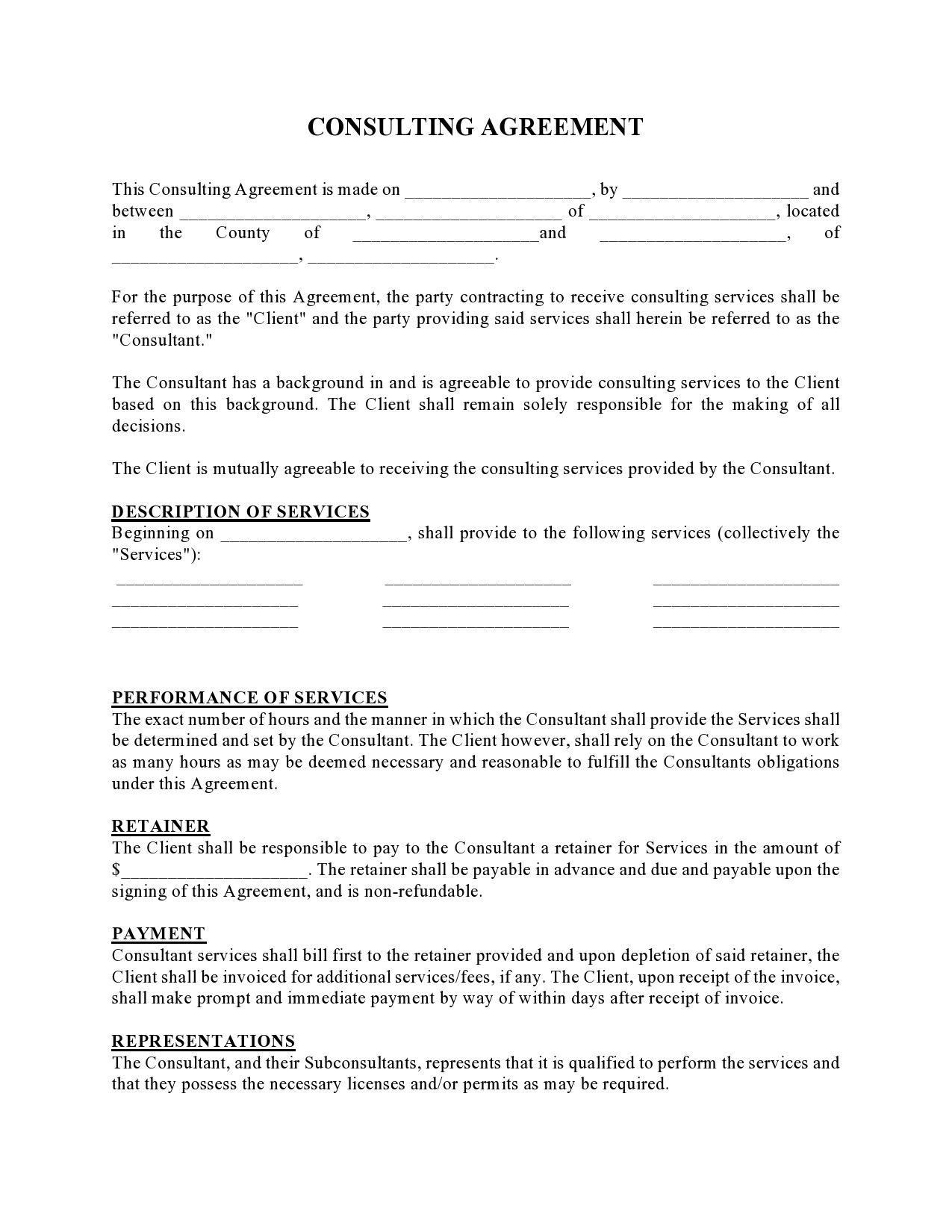 Free consulting contract template 19