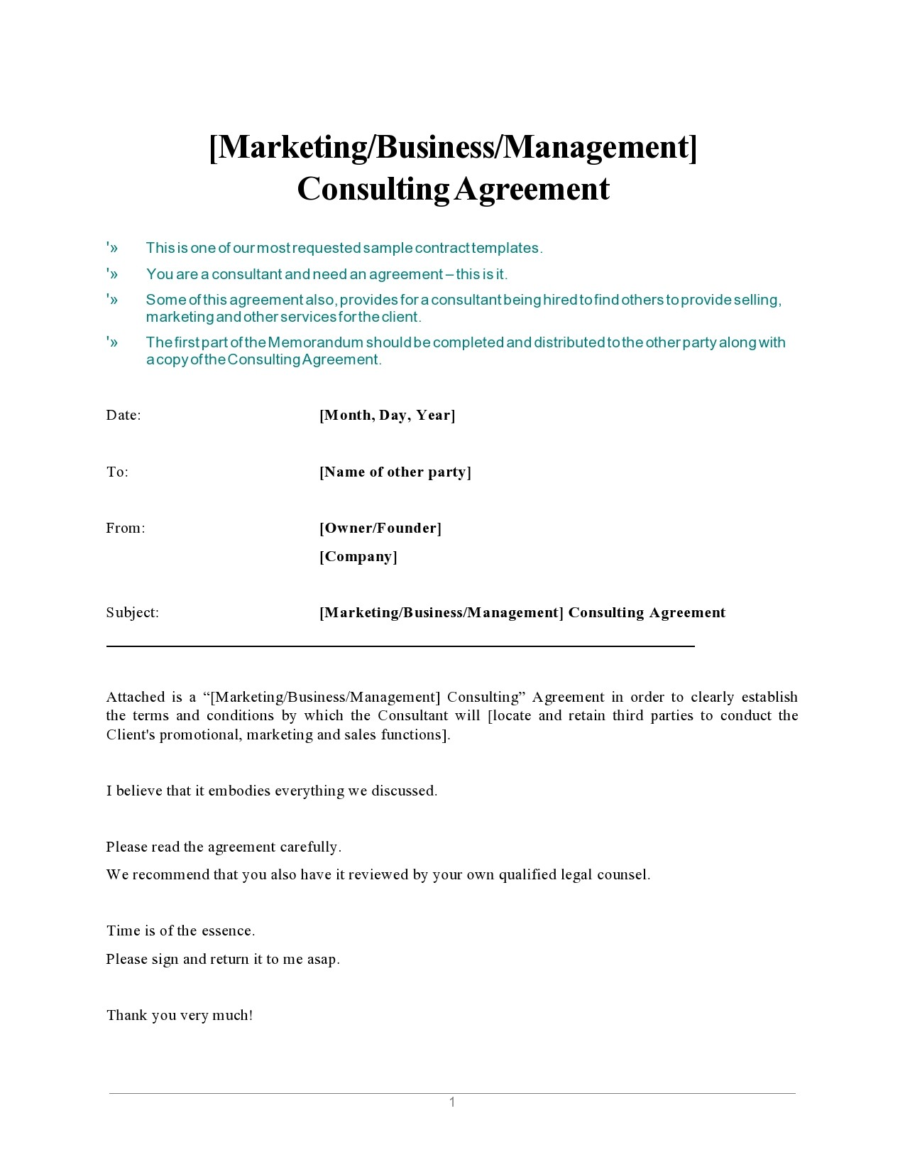 Free consulting contract template 24