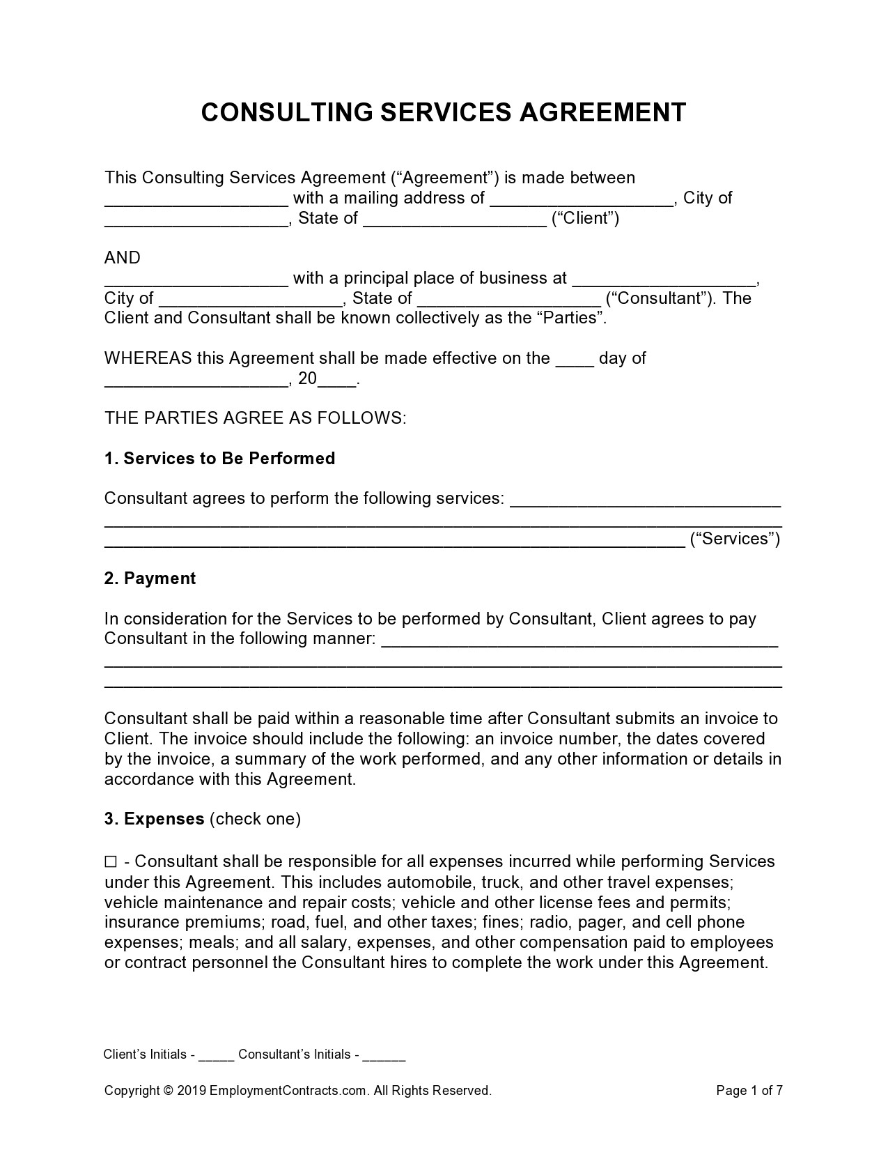 Free consulting contract template 26