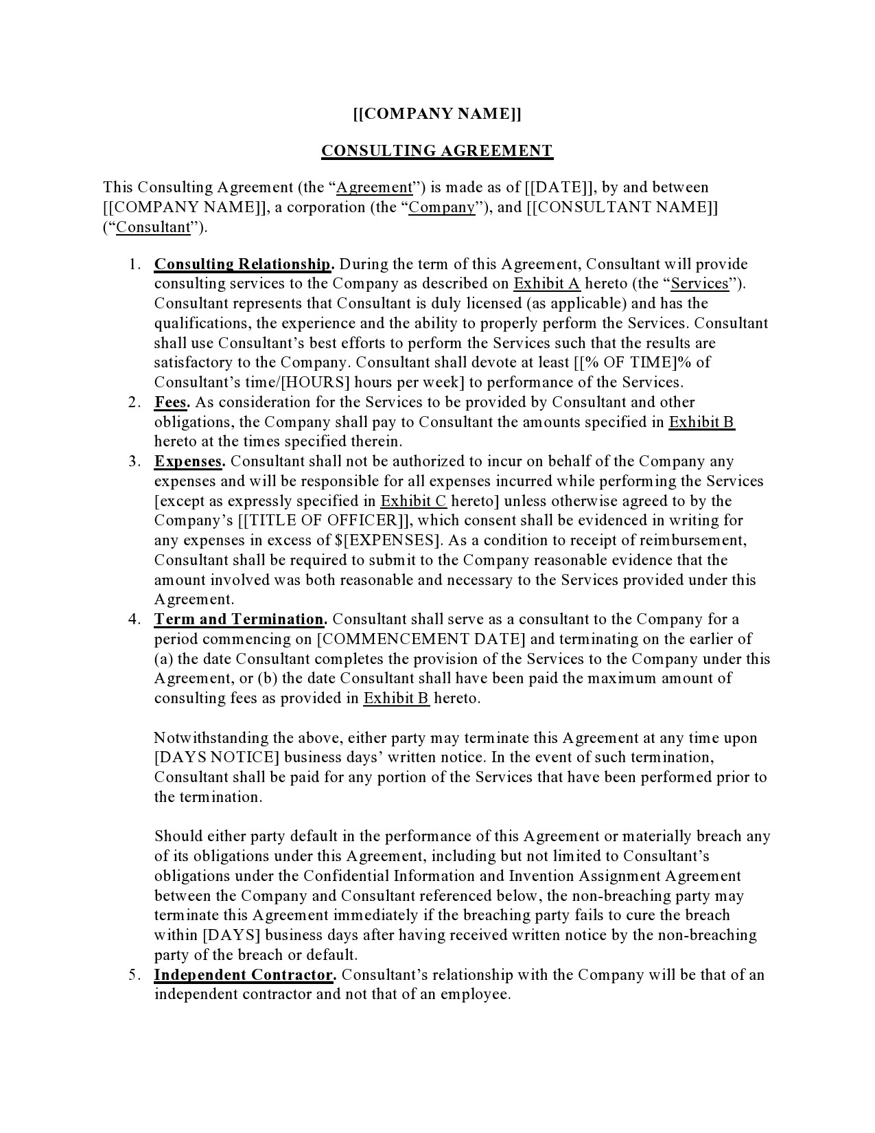 Free consulting contract template 27