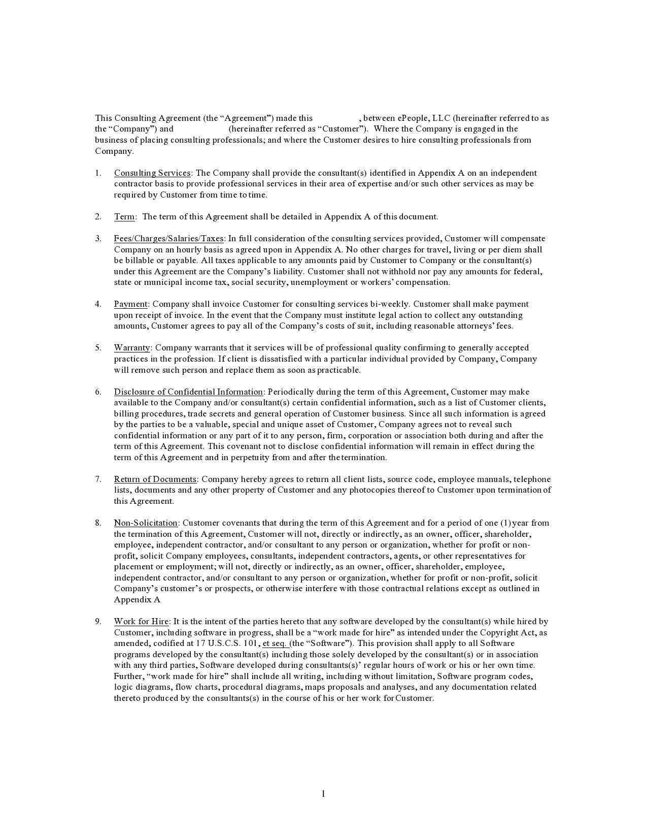 Free consulting contract template 28