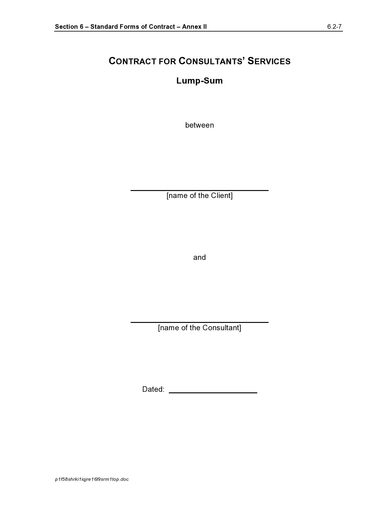 Free consulting contract template 30
