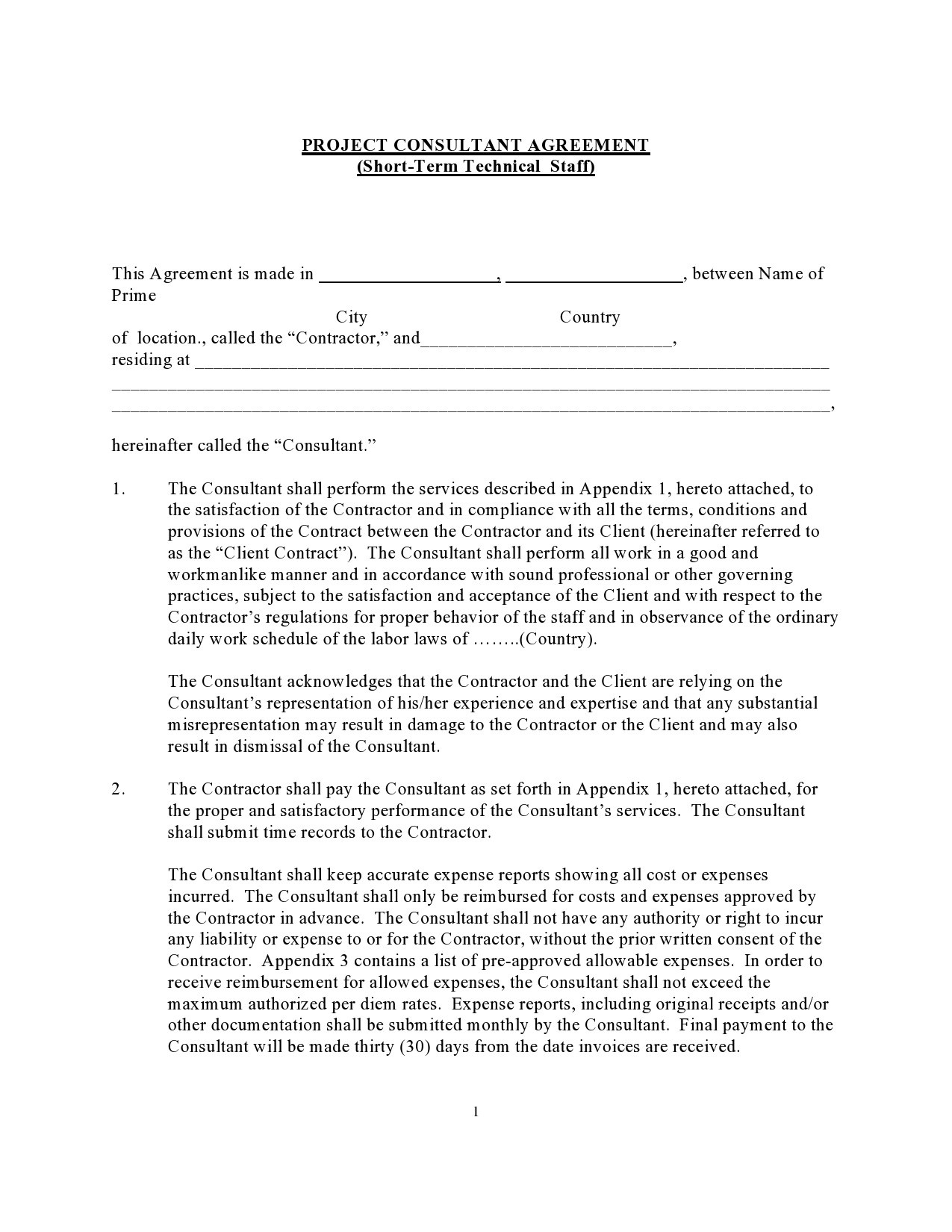 Free consulting contract template 32