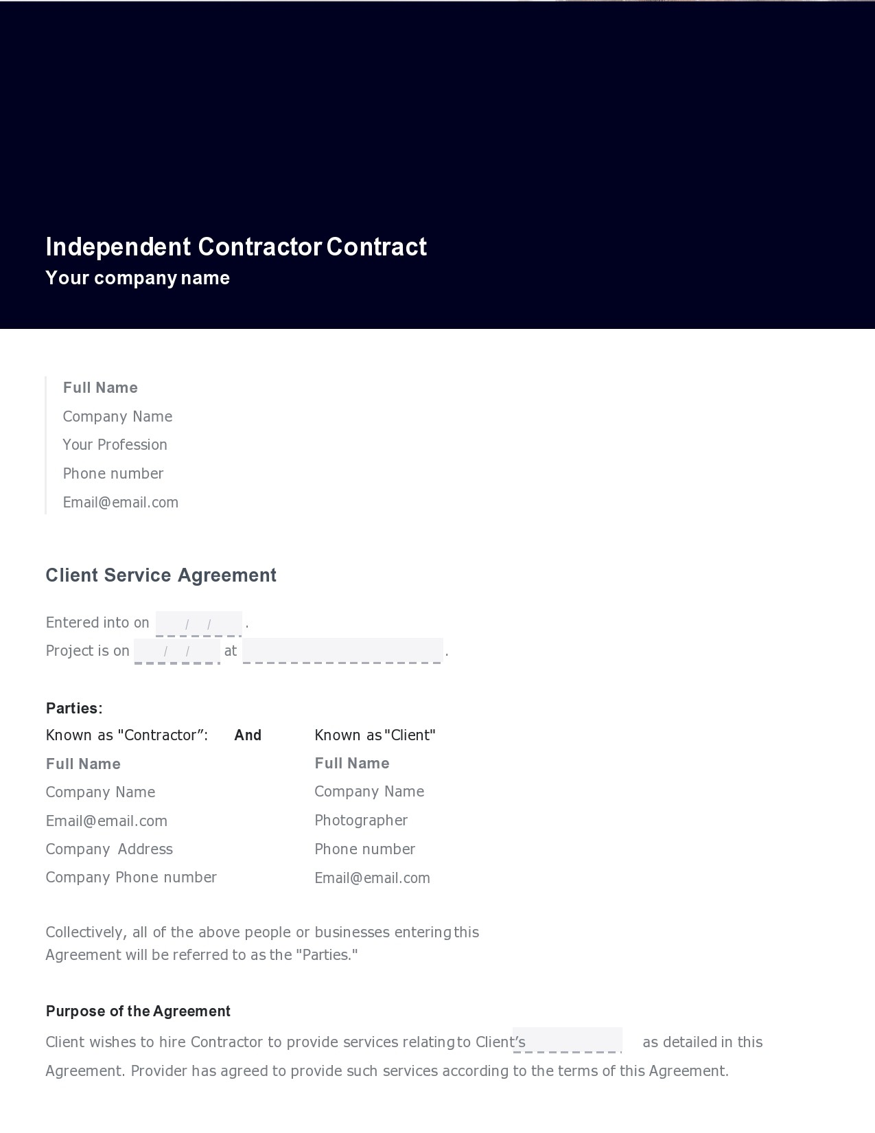 Free consulting contract template 33