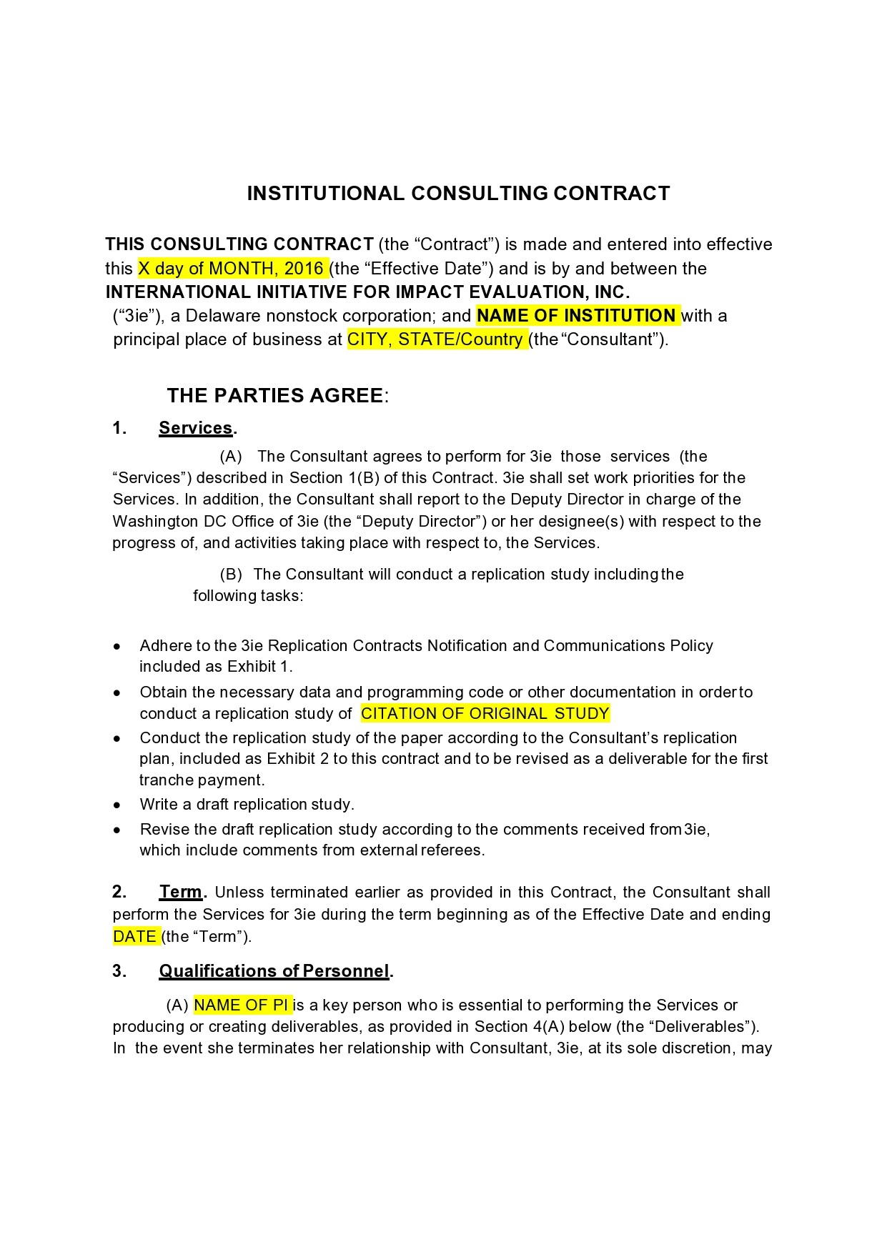 Free consulting contract template 34