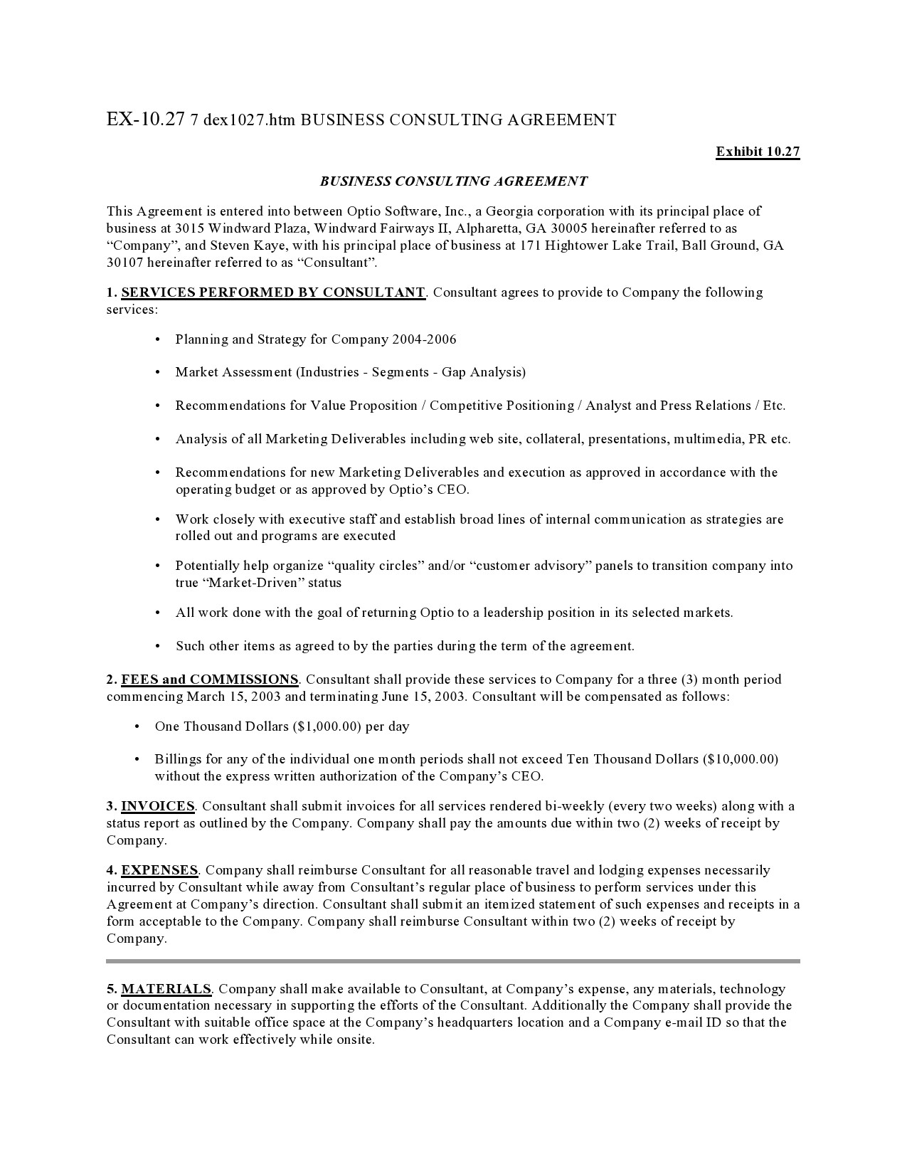 Free consulting contract template 37