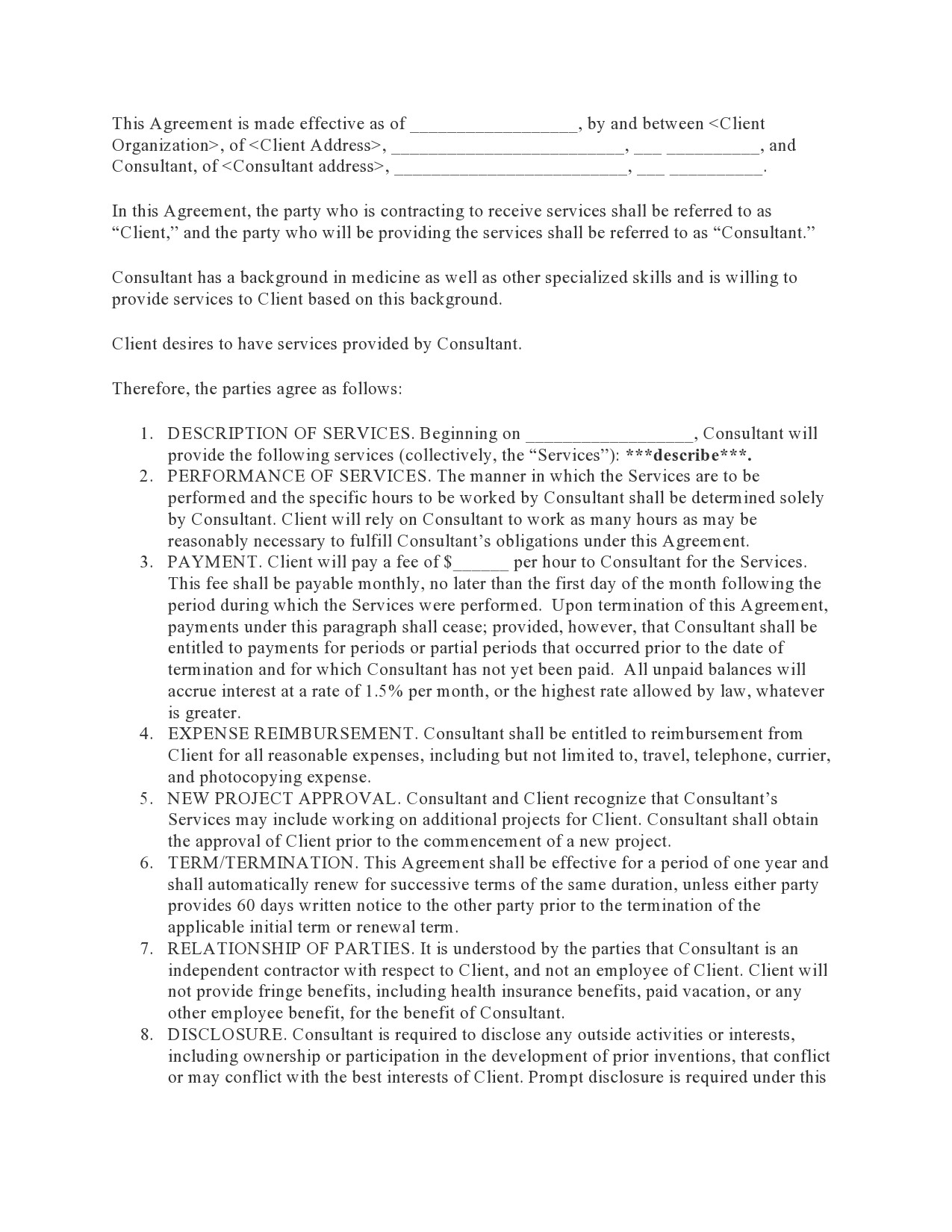 Free consulting contract template 39