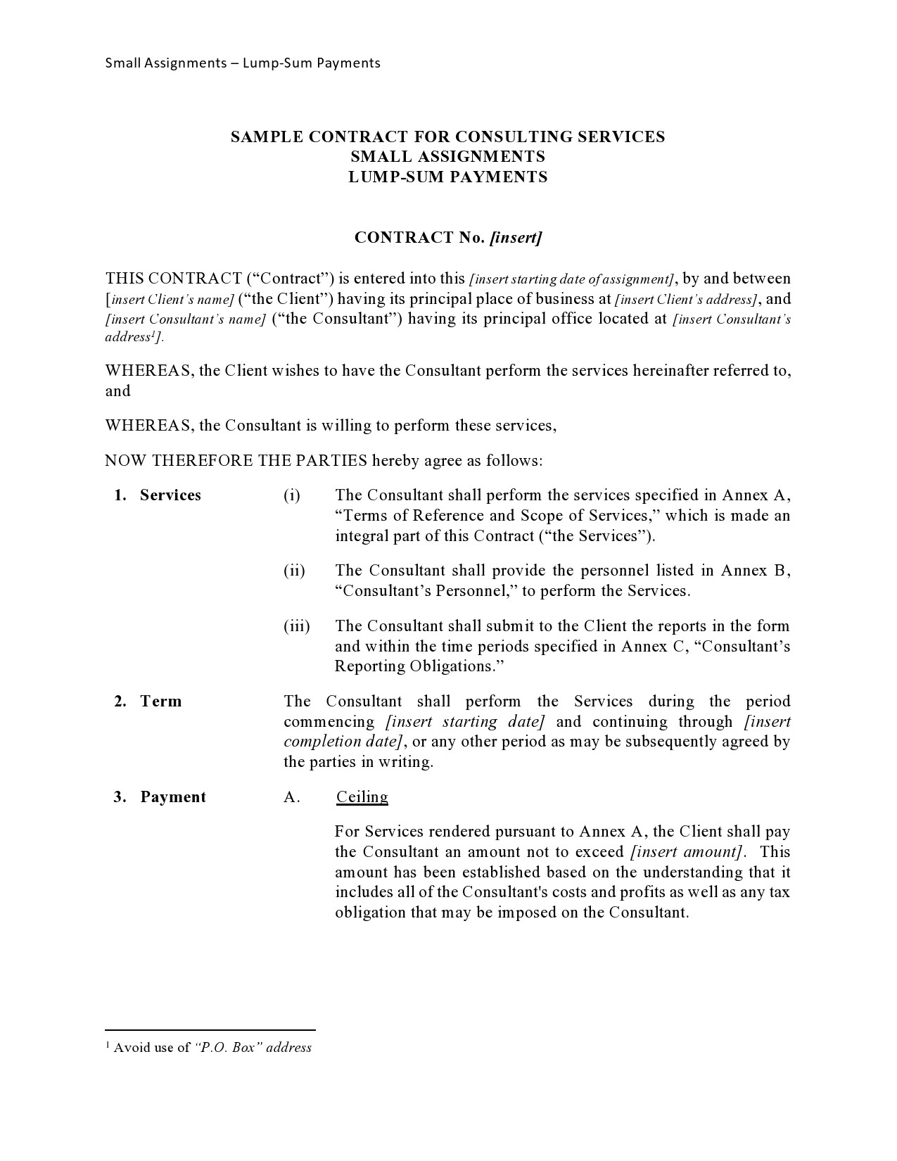 Free consulting contract template 44