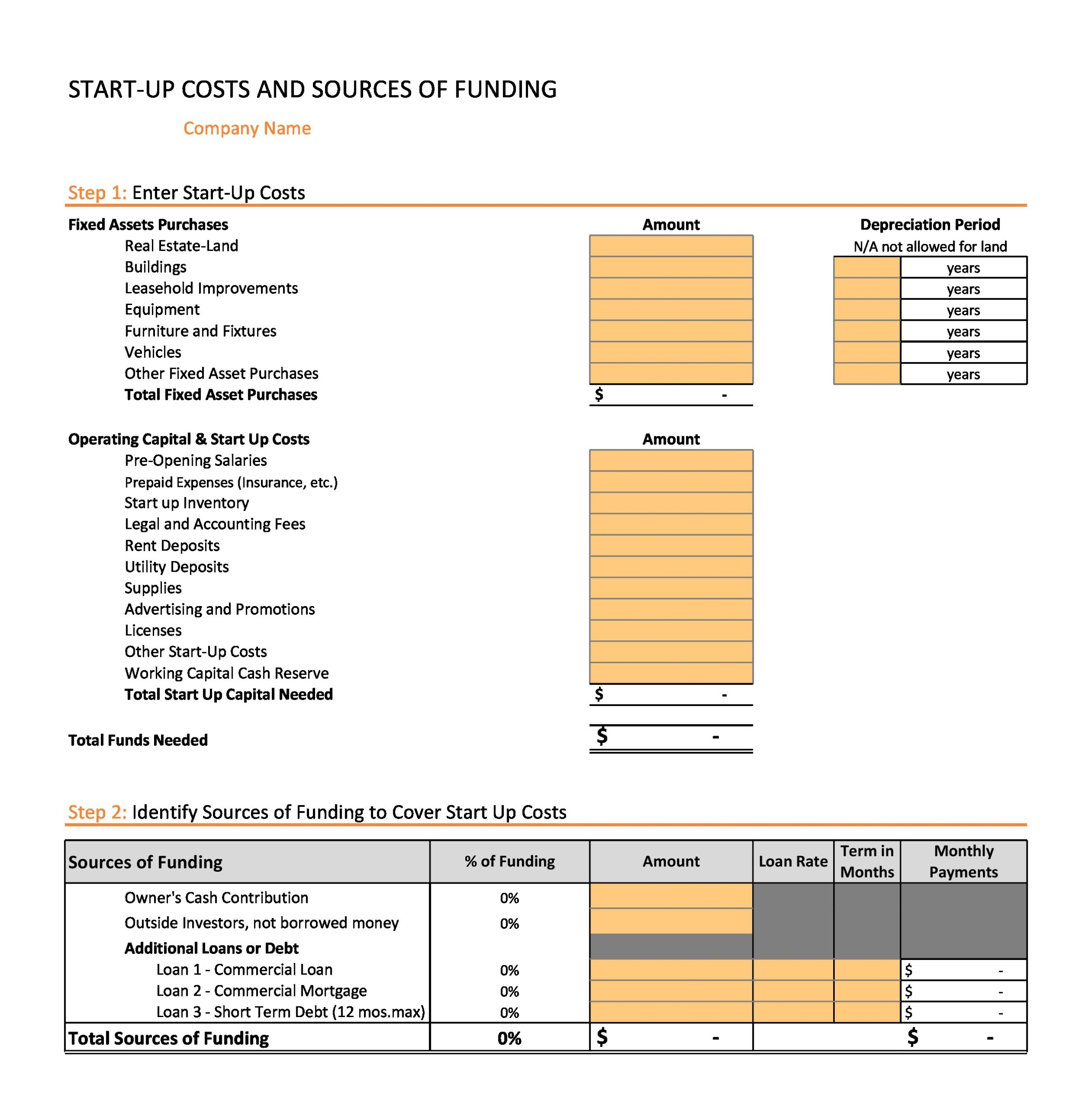 Free financial projections template 05