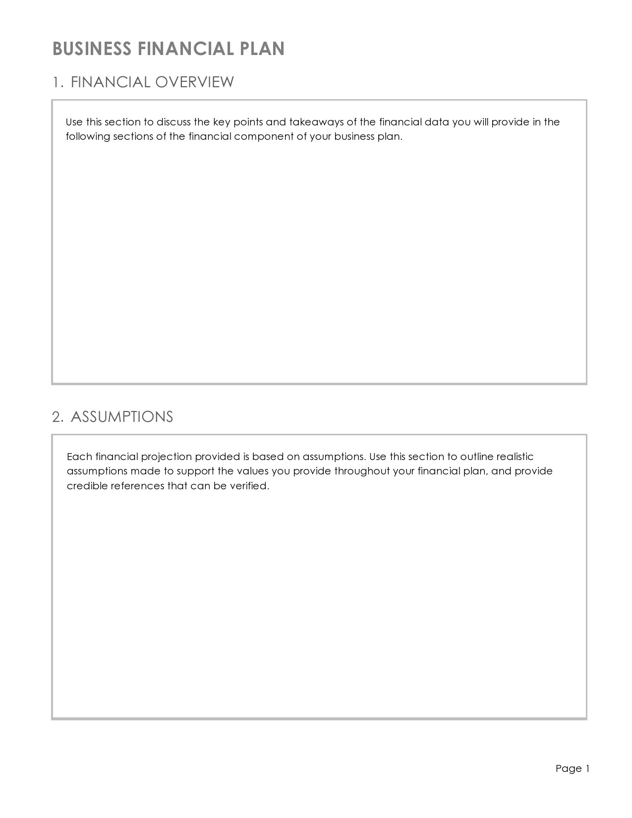 Free financial projections template 12