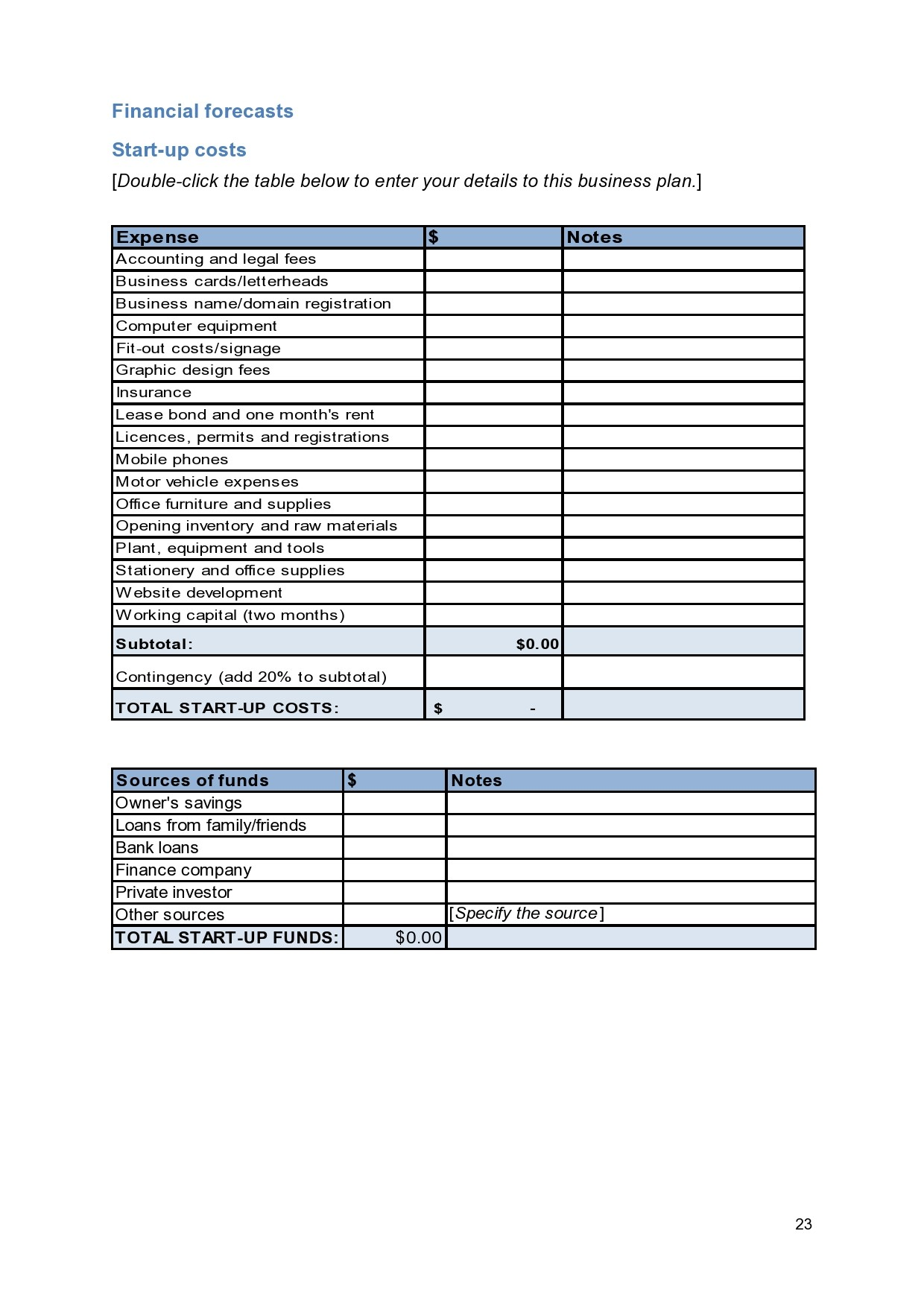 Free financial projections template 18