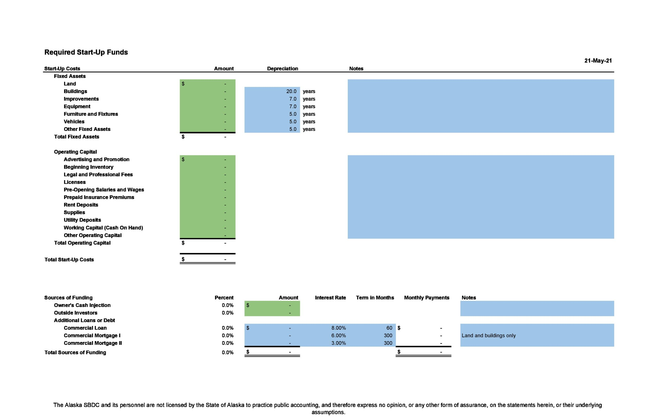 Free financial projections template 21
