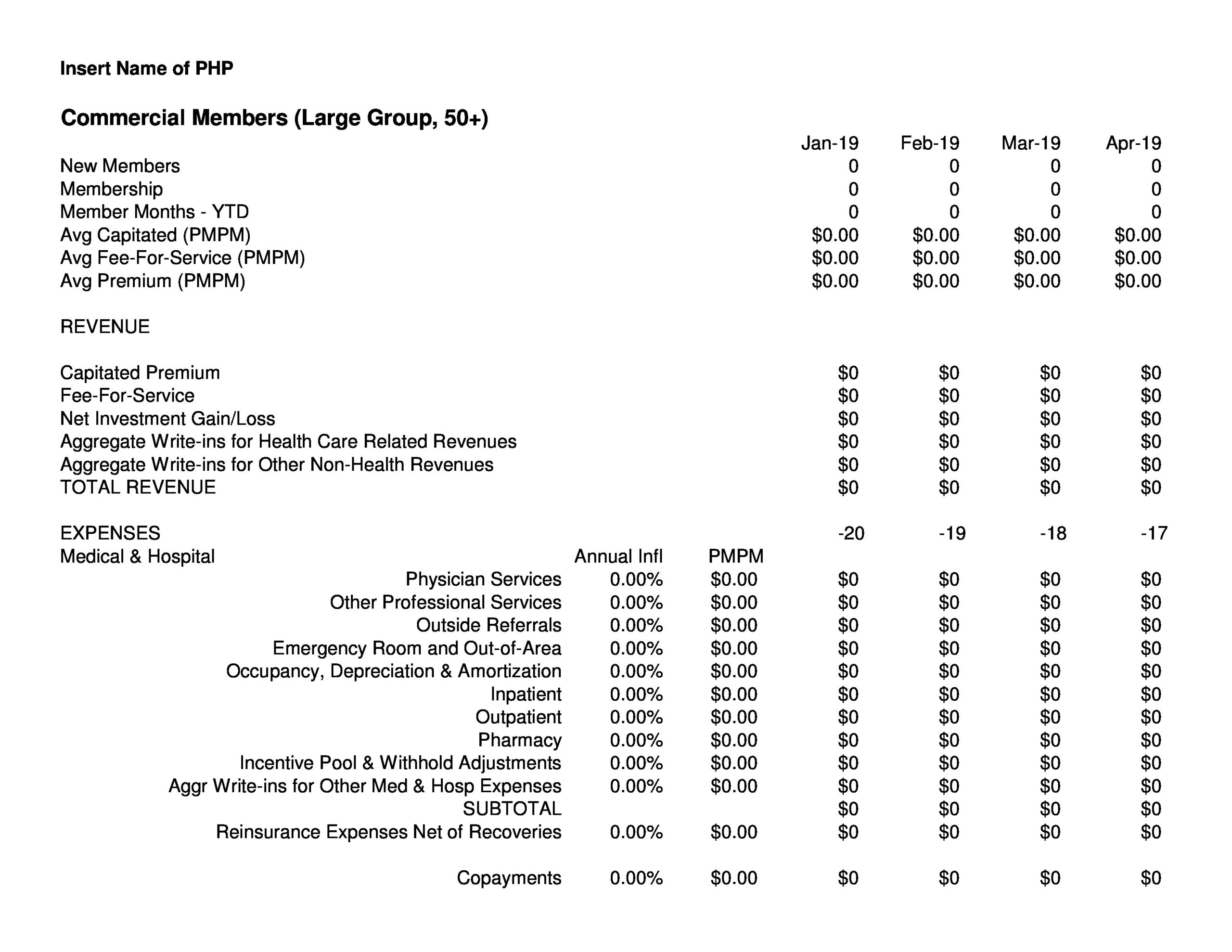 Free financial projections template 24