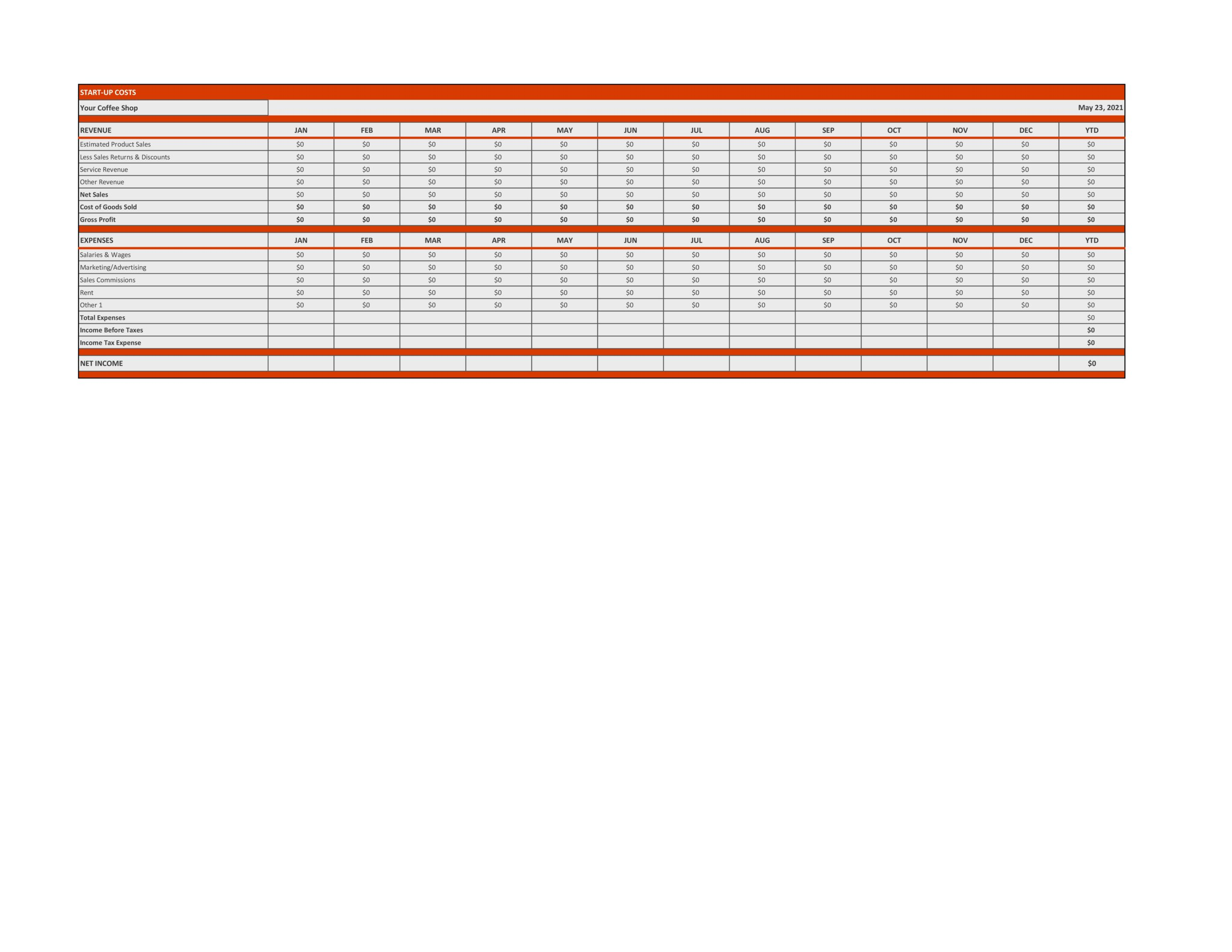 Free financial projections template 27