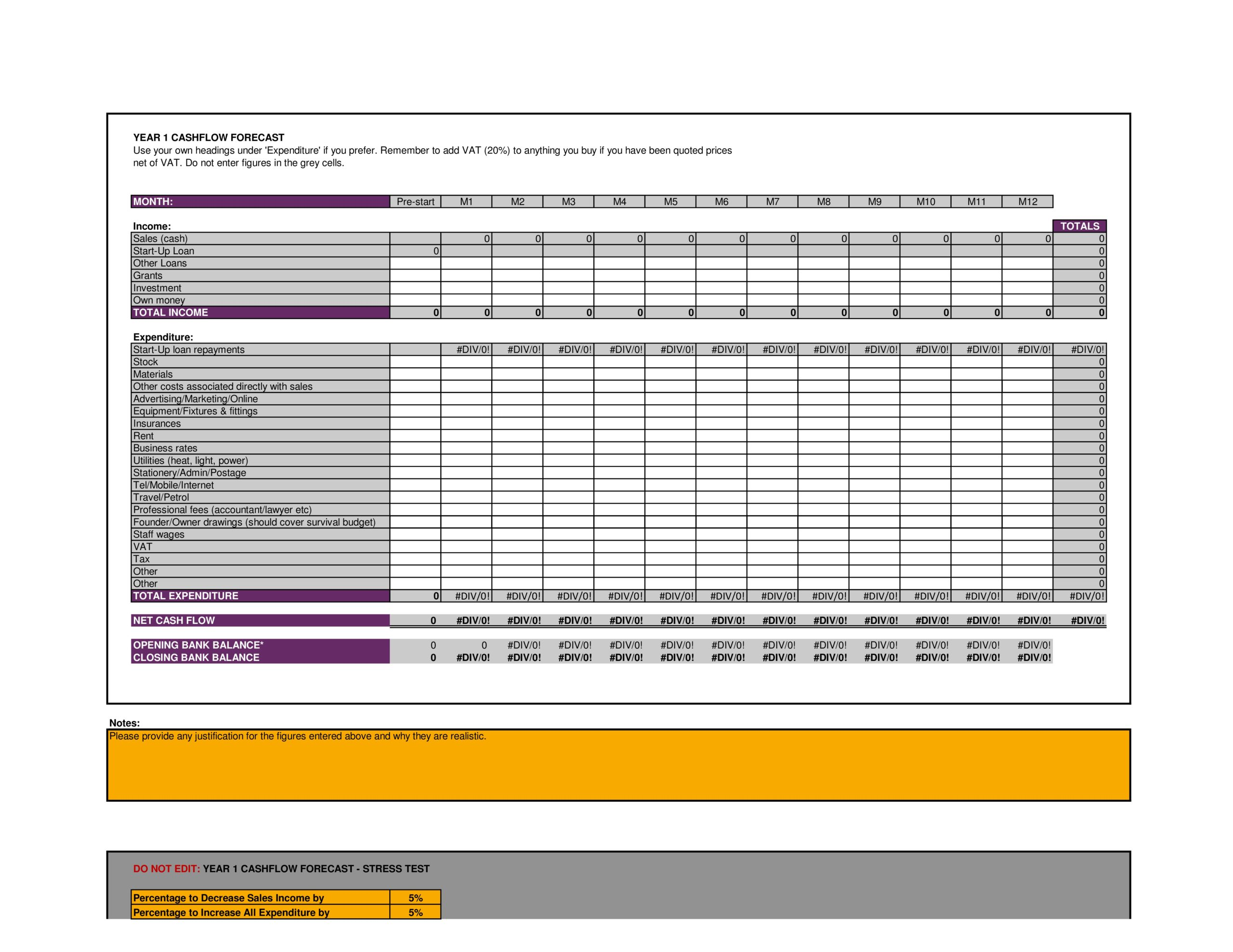 Free financial projections template 32