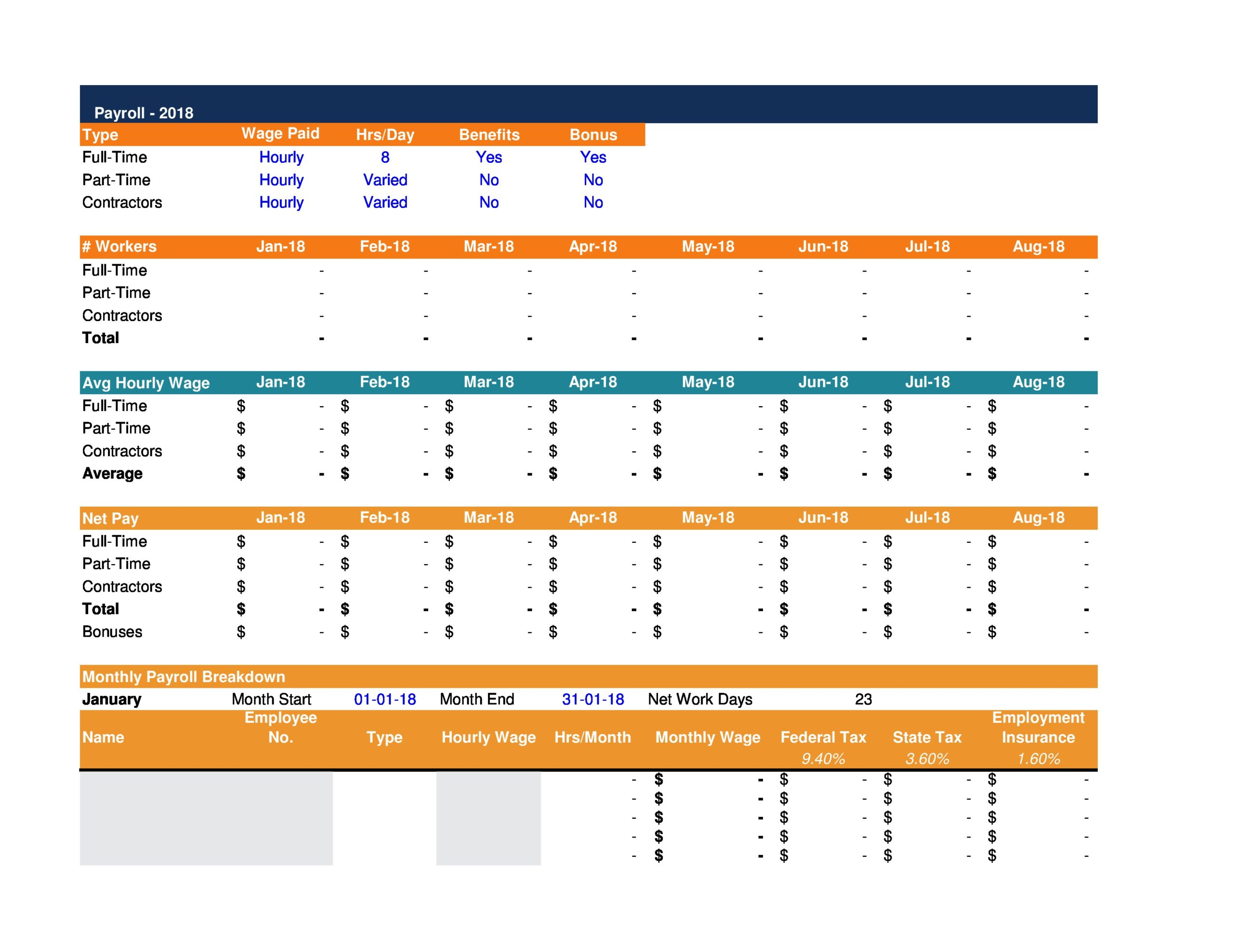 Free financial projections template 34